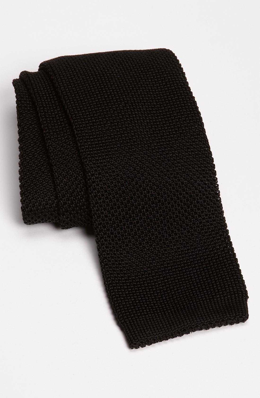 Main Image - Samuelsohn Solid Knit Tie