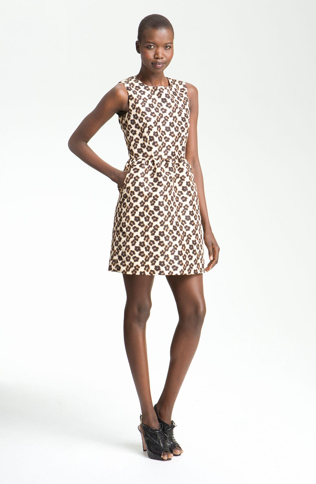Alternate Image 1 Selected - RED Valentino Leopard Flower Print Sheath Dress