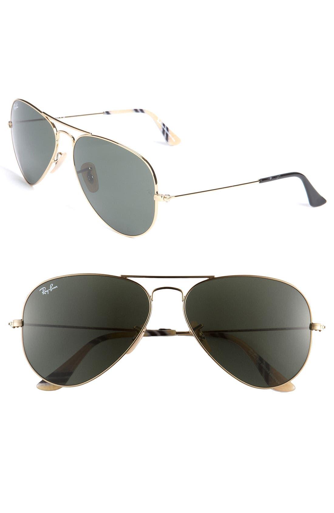 Alternate Image 1 Selected - Ray-Ban Original Aviator 58mm Sunglasses