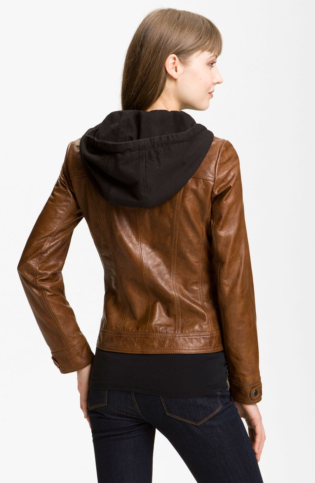 Alternate Image 2  - Marc New York by Andrew Marc Leather Moto Jacket