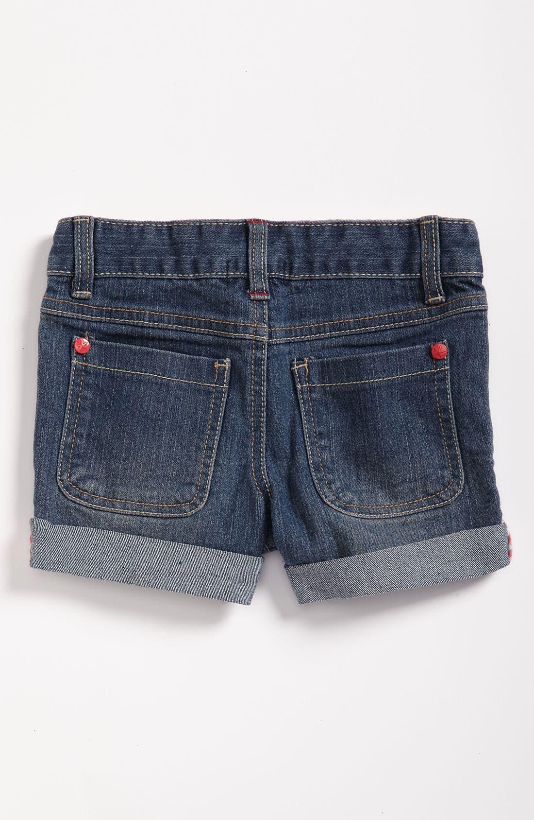 Alternate Image 1 Selected - Pumpkin Patch Denim Shorts (Infant)