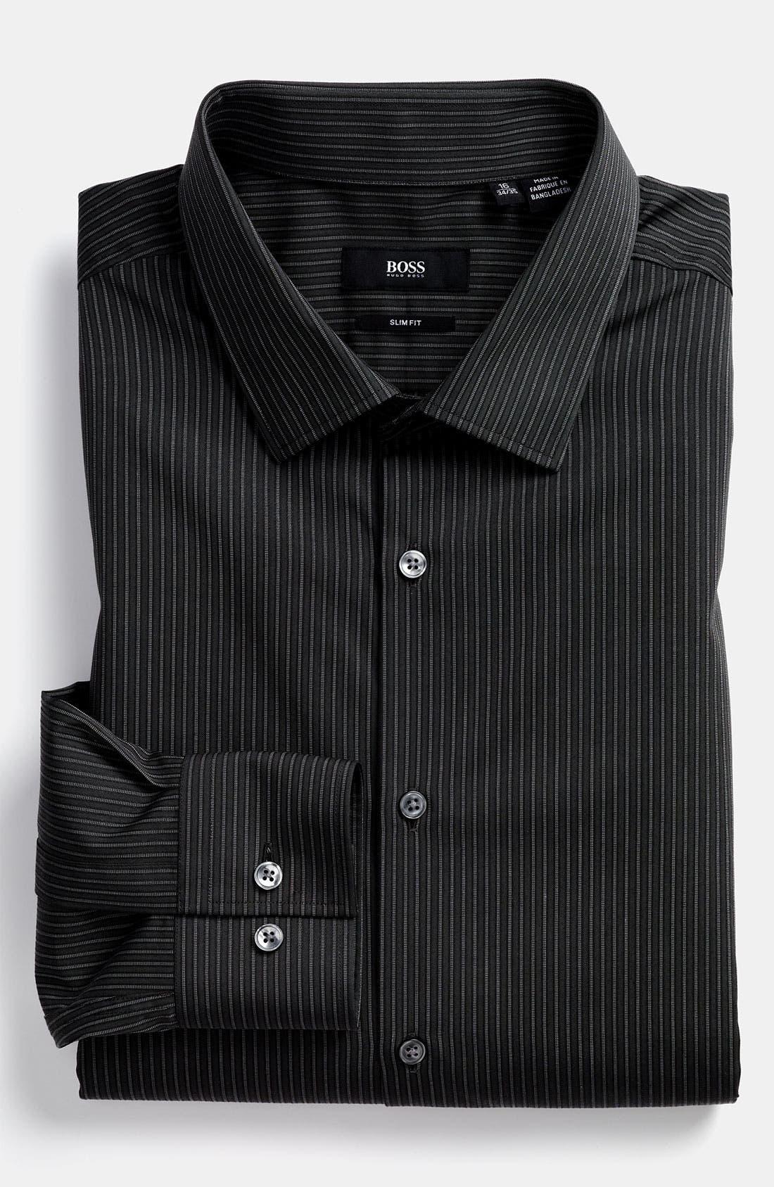 Main Image - BOSS Black Slim Fit Dress Shirt