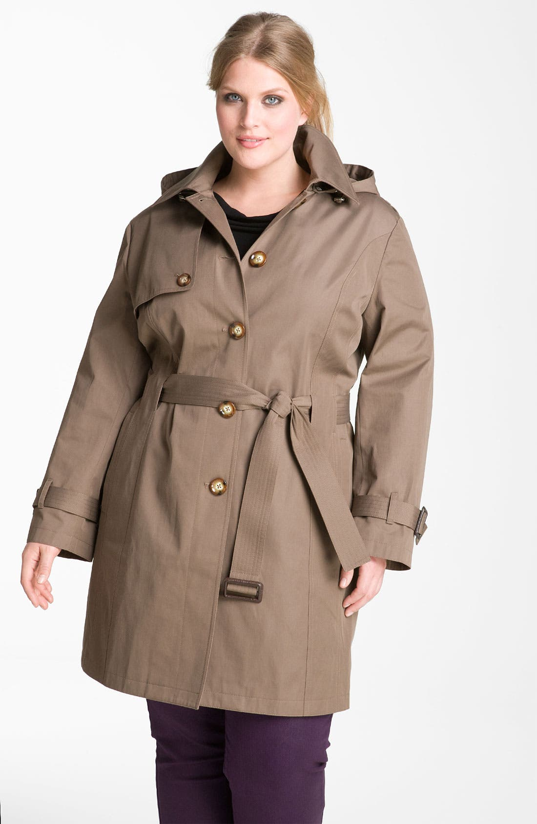 Alternate Image 1 Selected - MICHAEL Michael Kors Trench Coat with Detachable Liner (Plus)