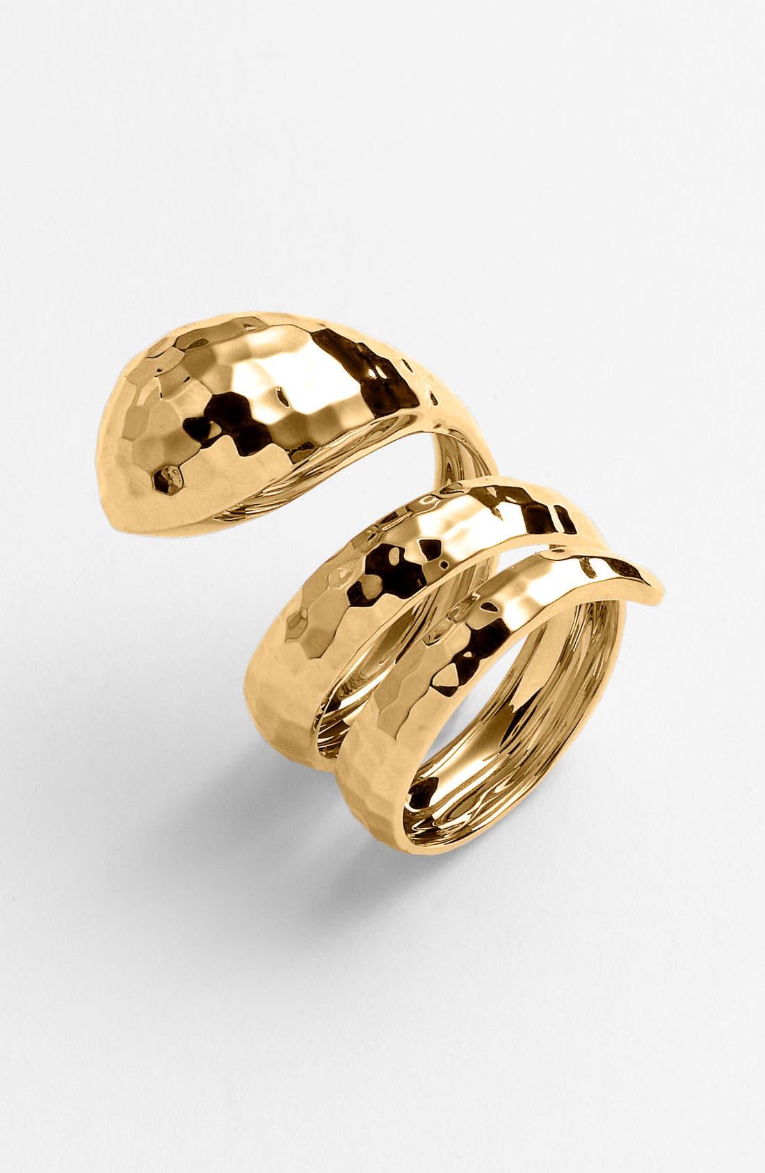 Alternate Image 1 Selected - Roberto Coin 'Martellato' Snake Ring