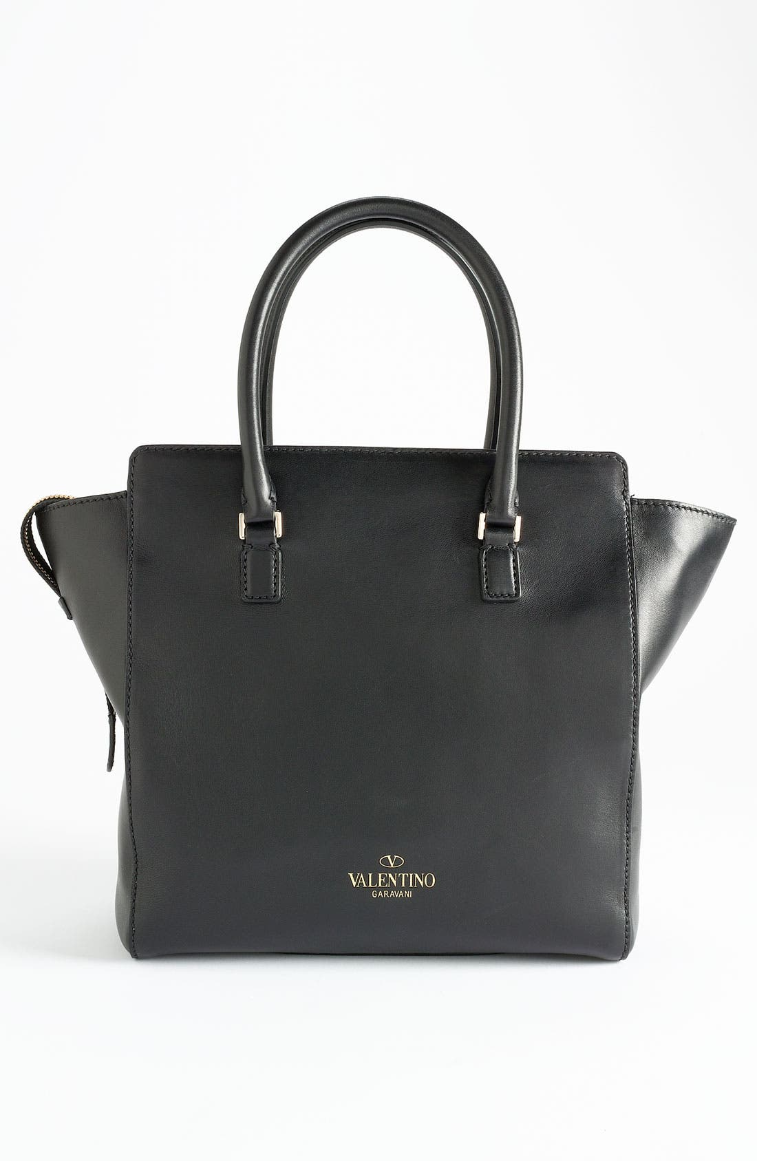 Alternate Image 4  - Valentino 'Crystal' Leather Shopper Tote