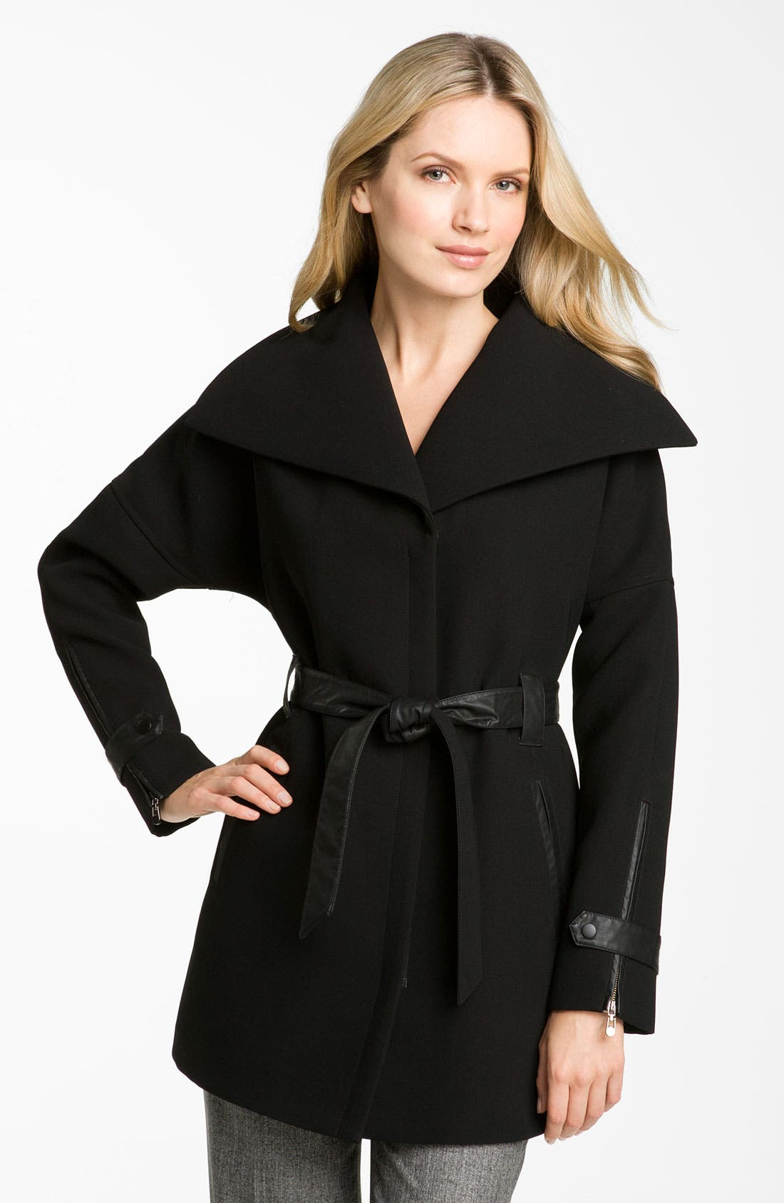 Alternate Image 1 Selected - 1 Madison Wing Collar Belted Coat