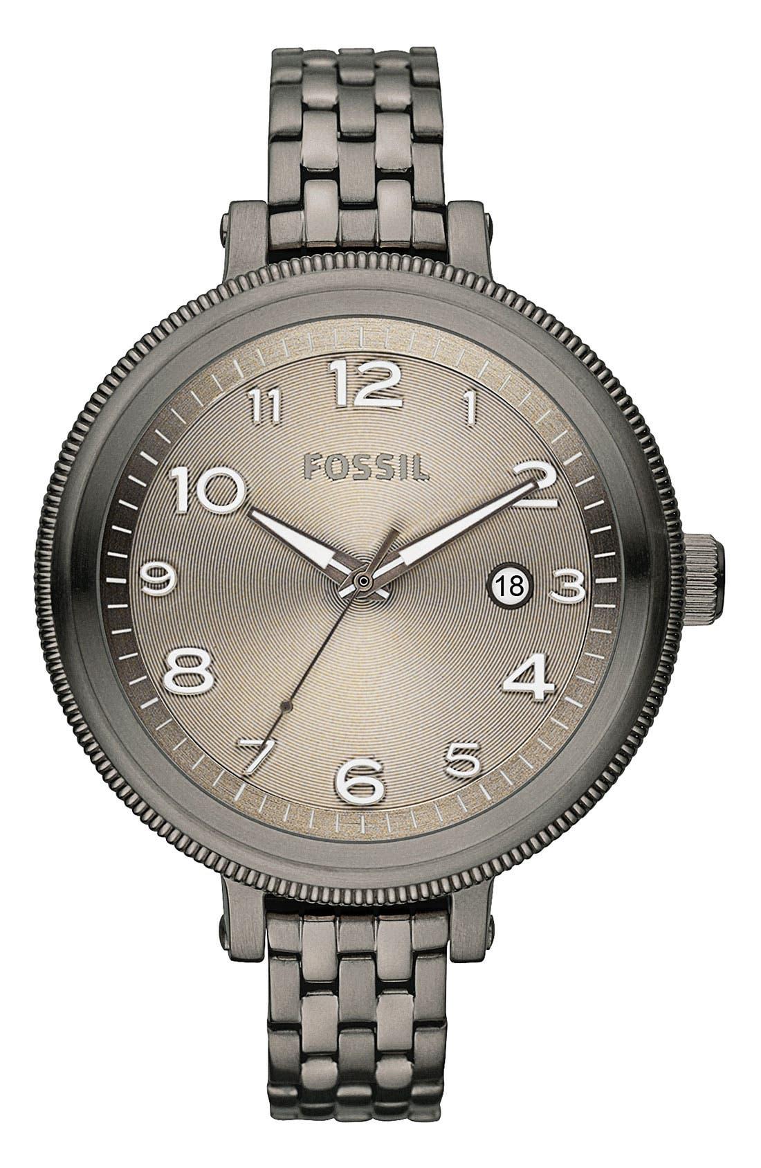 Alternate Image 1 Selected - Fossil 'Bridgette' Round Dial Bracelet Watch