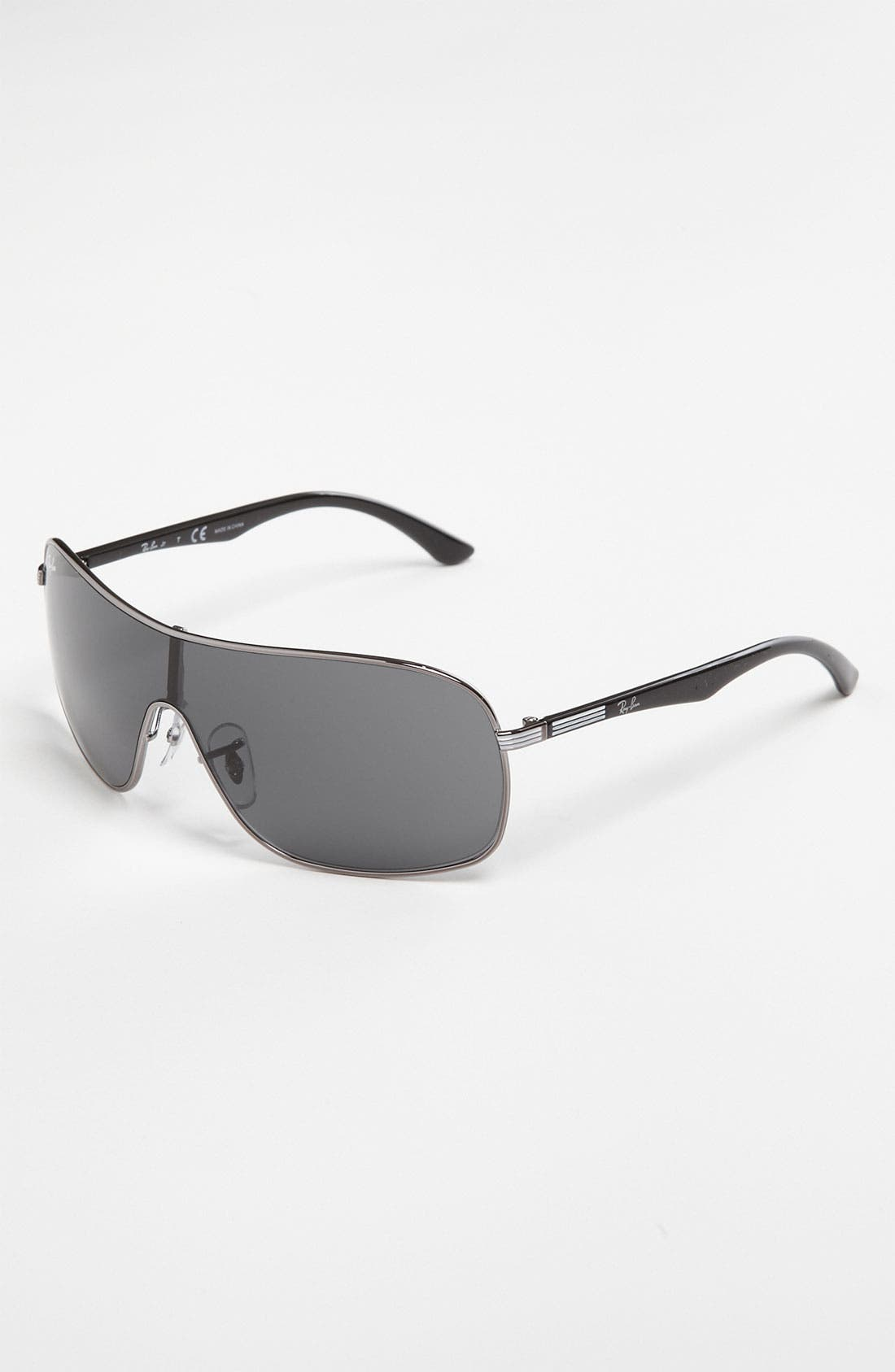 Main Image - Ray-Ban 65mm Shield Sunglasses (Big Boys)