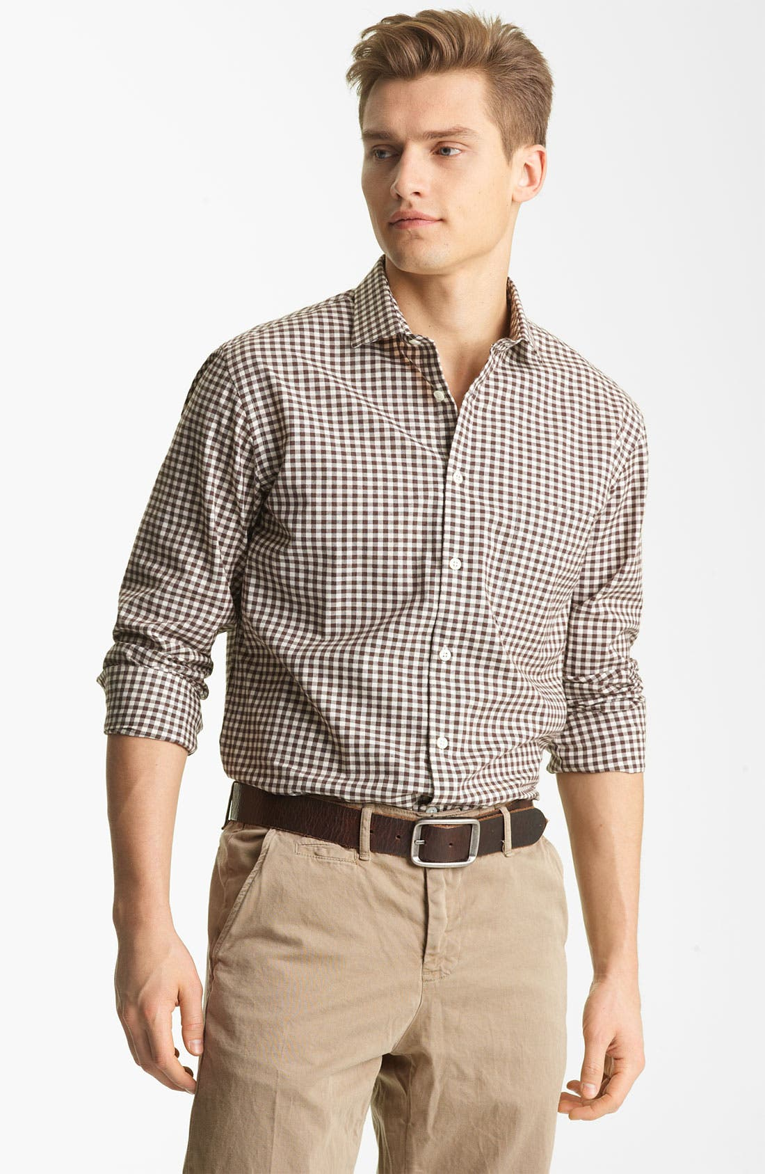 Alternate Image 1 Selected - Billy Reid 'John T' Check Woven Shirt