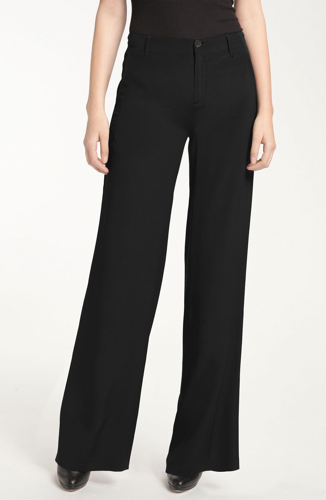 Alternate Image 1 Selected - Vince Wide Leg Silk Pants