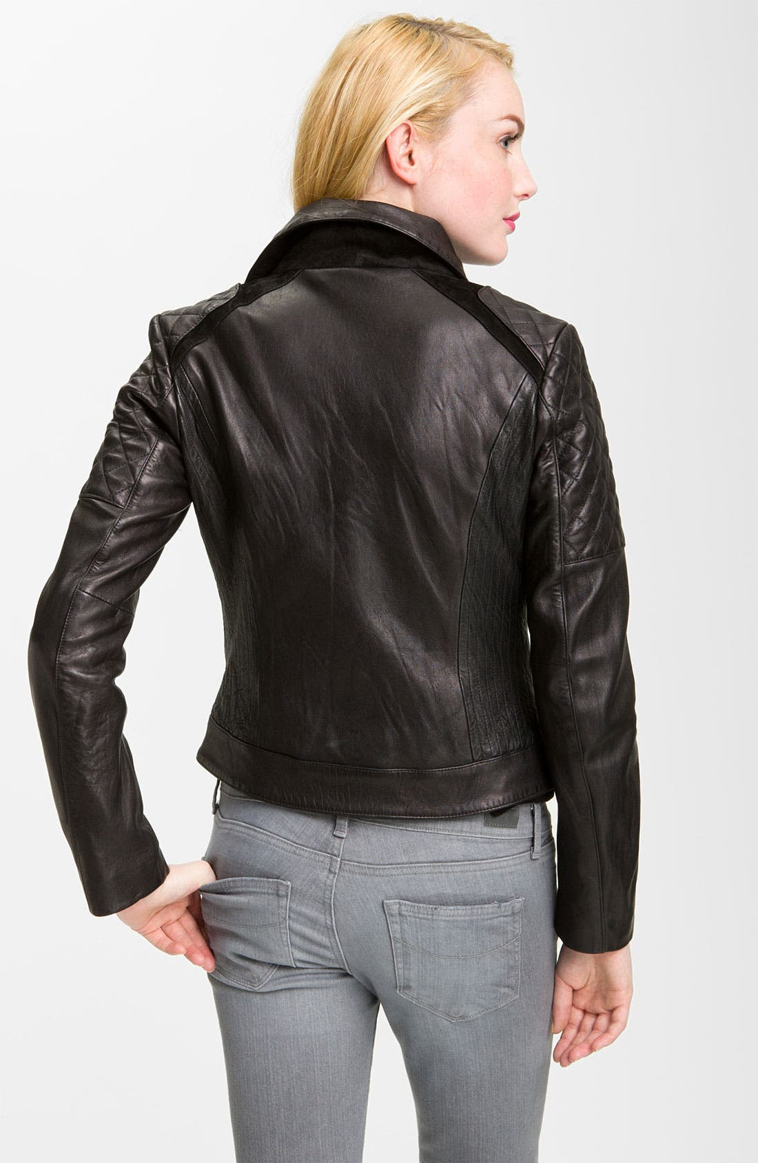 Alternate Image 2  - Sam Edelman Quilted Leather Moto Jacket