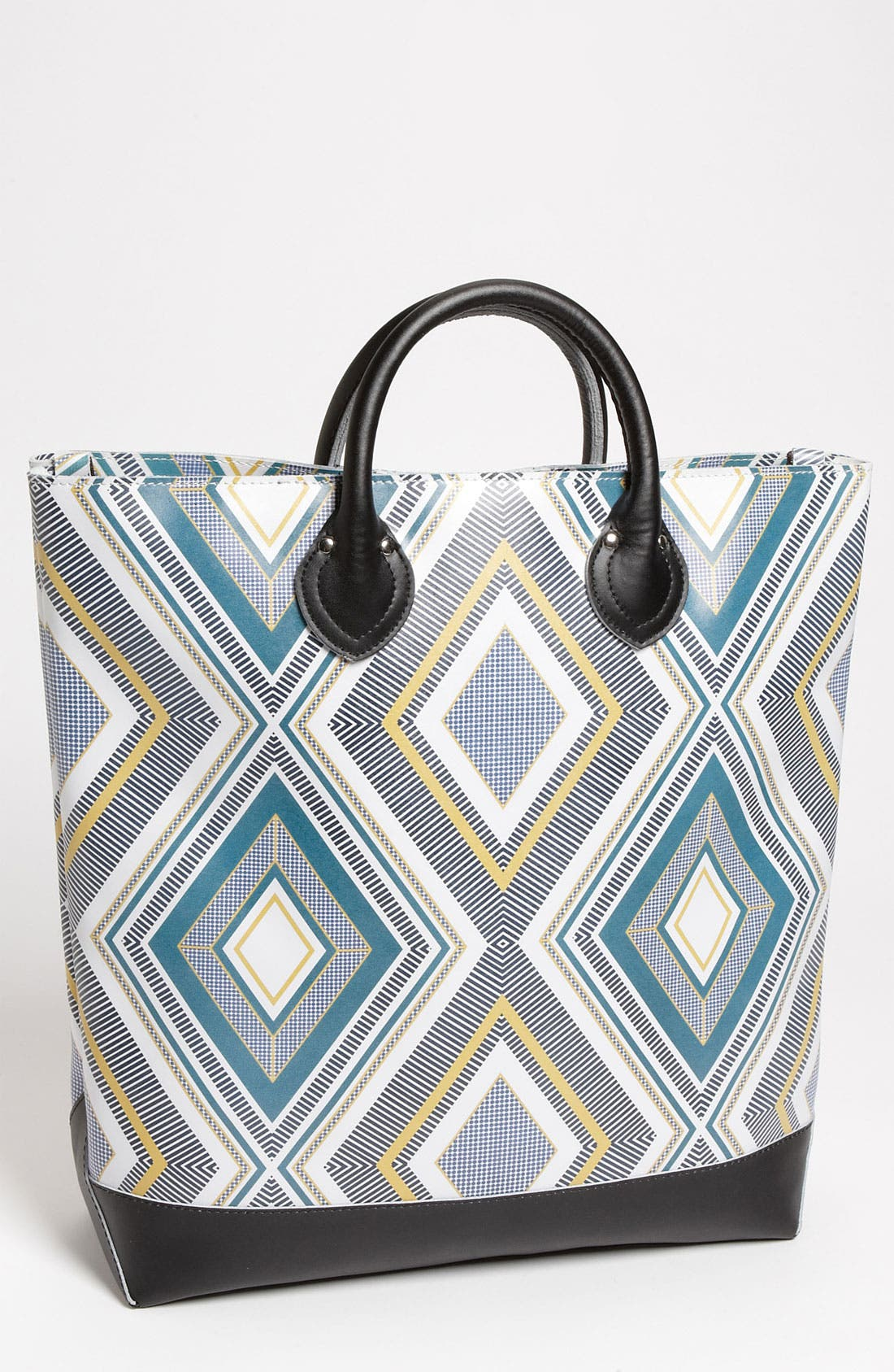 Alternate Image 1 Selected - Yarnz 'Stripes' Print Leather Tote