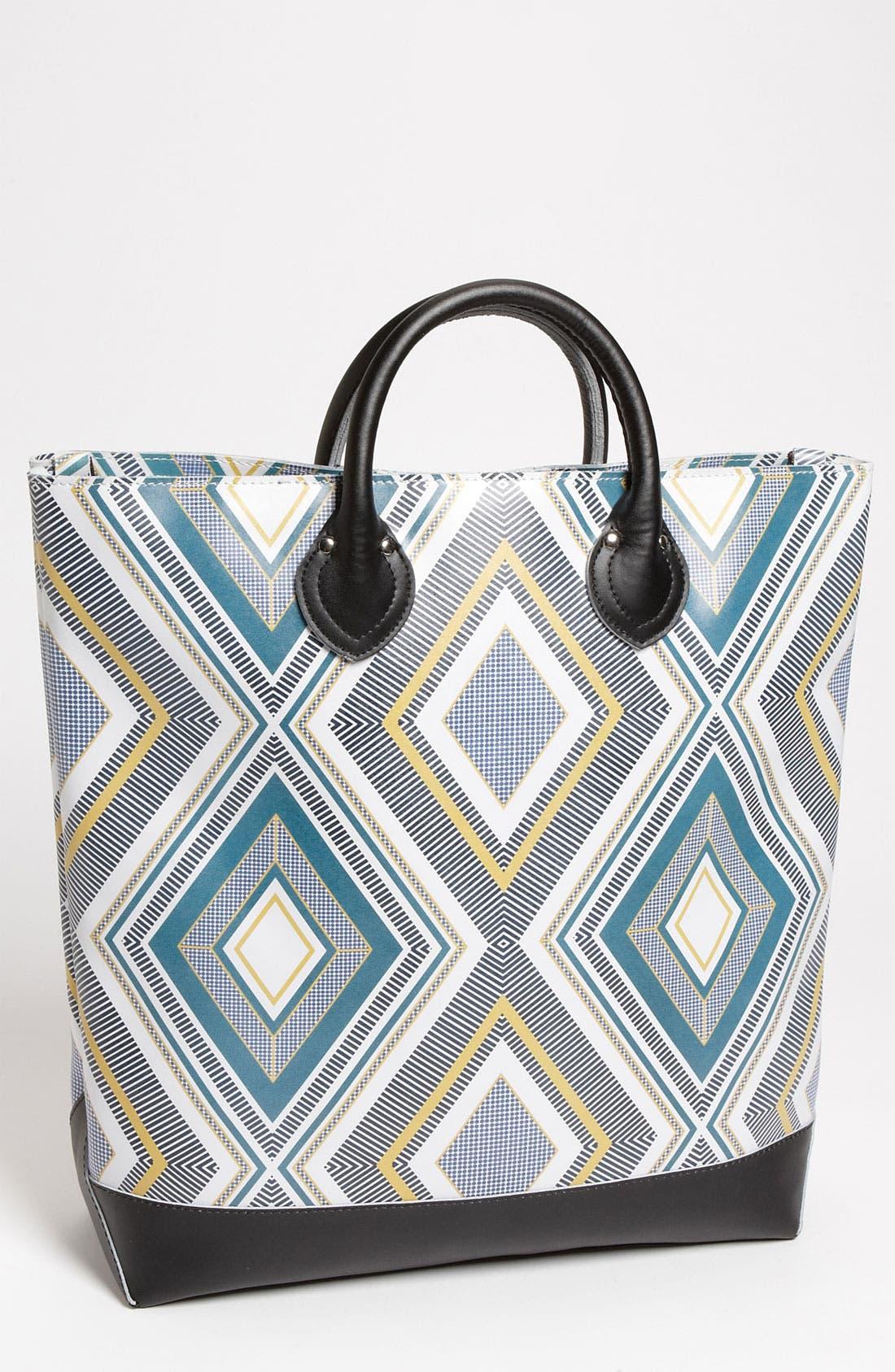 Main Image - Yarnz 'Stripes' Print Leather Tote