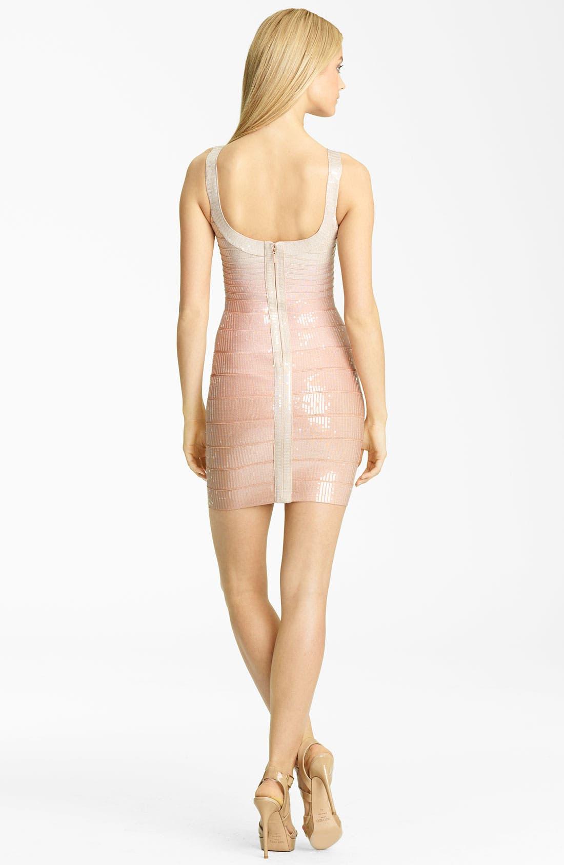 Alternate Image 2  - Herve Leger Sequin Overlay Bandage Dress