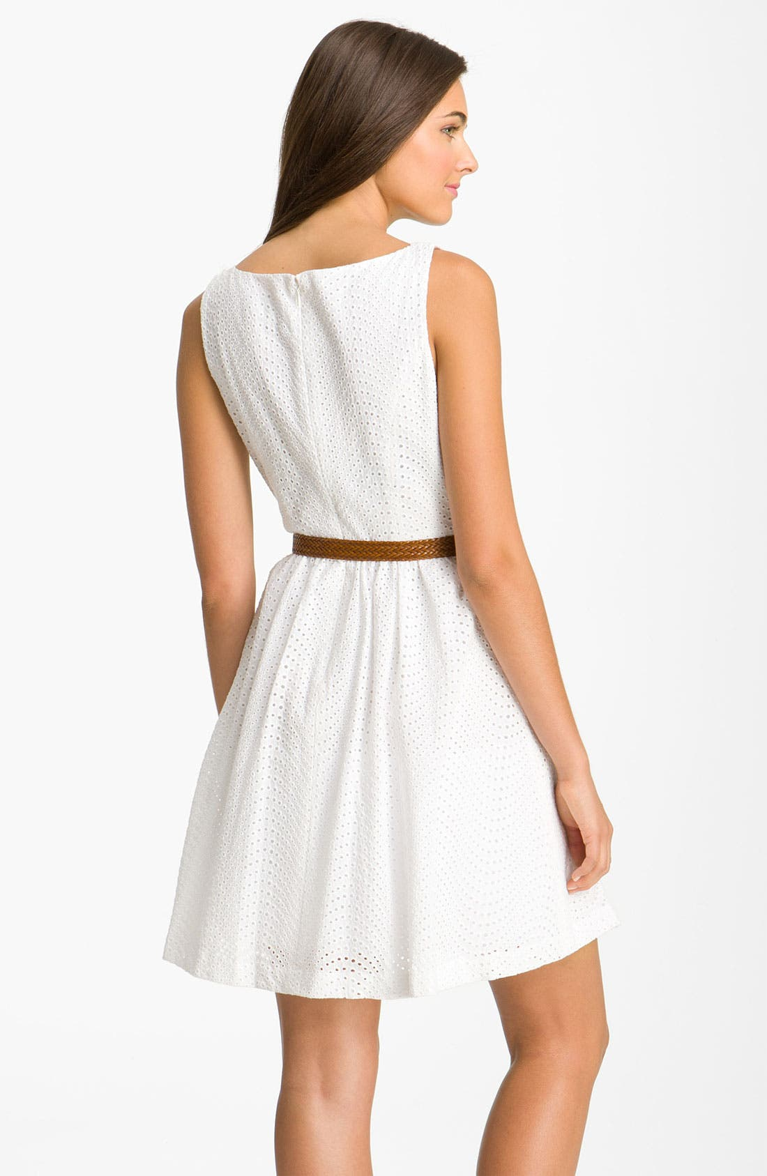 Alternate Image 2  - Jessica Simpson Eyelet Dress