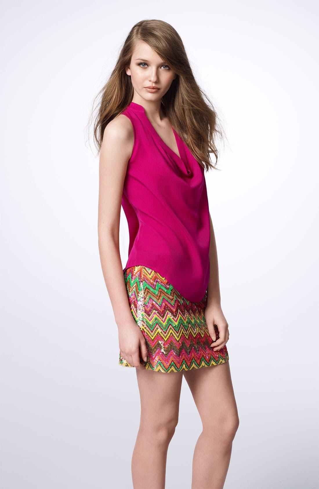 Alternate Image 4  - Haute Hippie Chevron Sequin Miniskirt