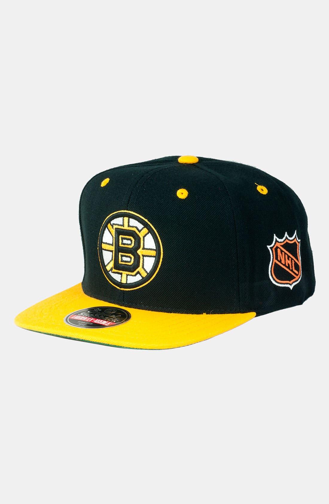 Alternate Image 1 Selected - American Needle 'Bruins - Blockhead' Snapback Baseball Cap