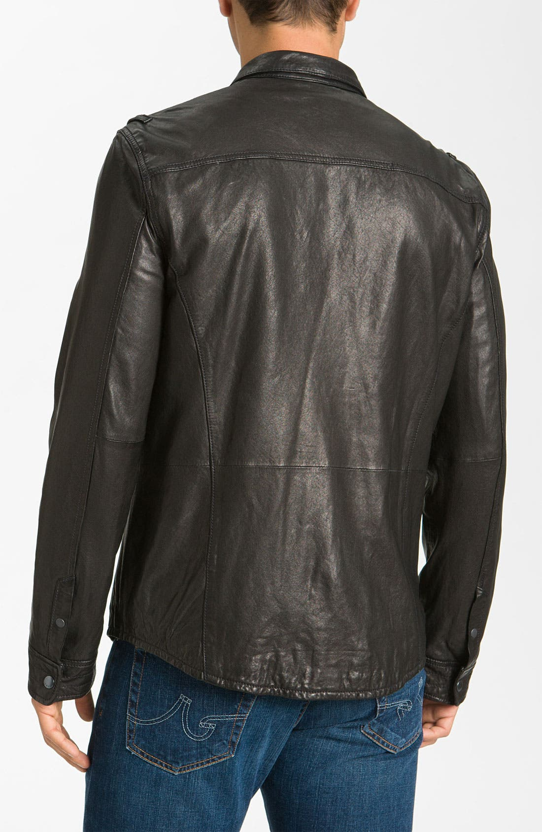 Alternate Image 2  - John Varvatos Star USA Leather Jacket