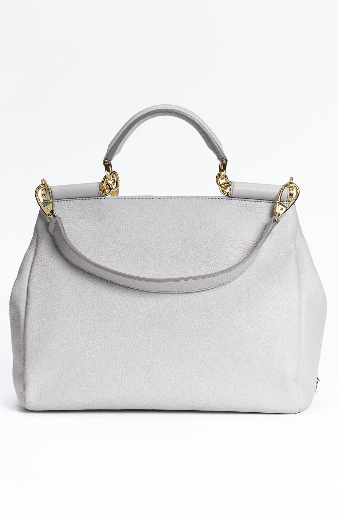 Alternate Image 4  - Dolce&Gabbana 'Miss Sicily Soft' Leather Satchel