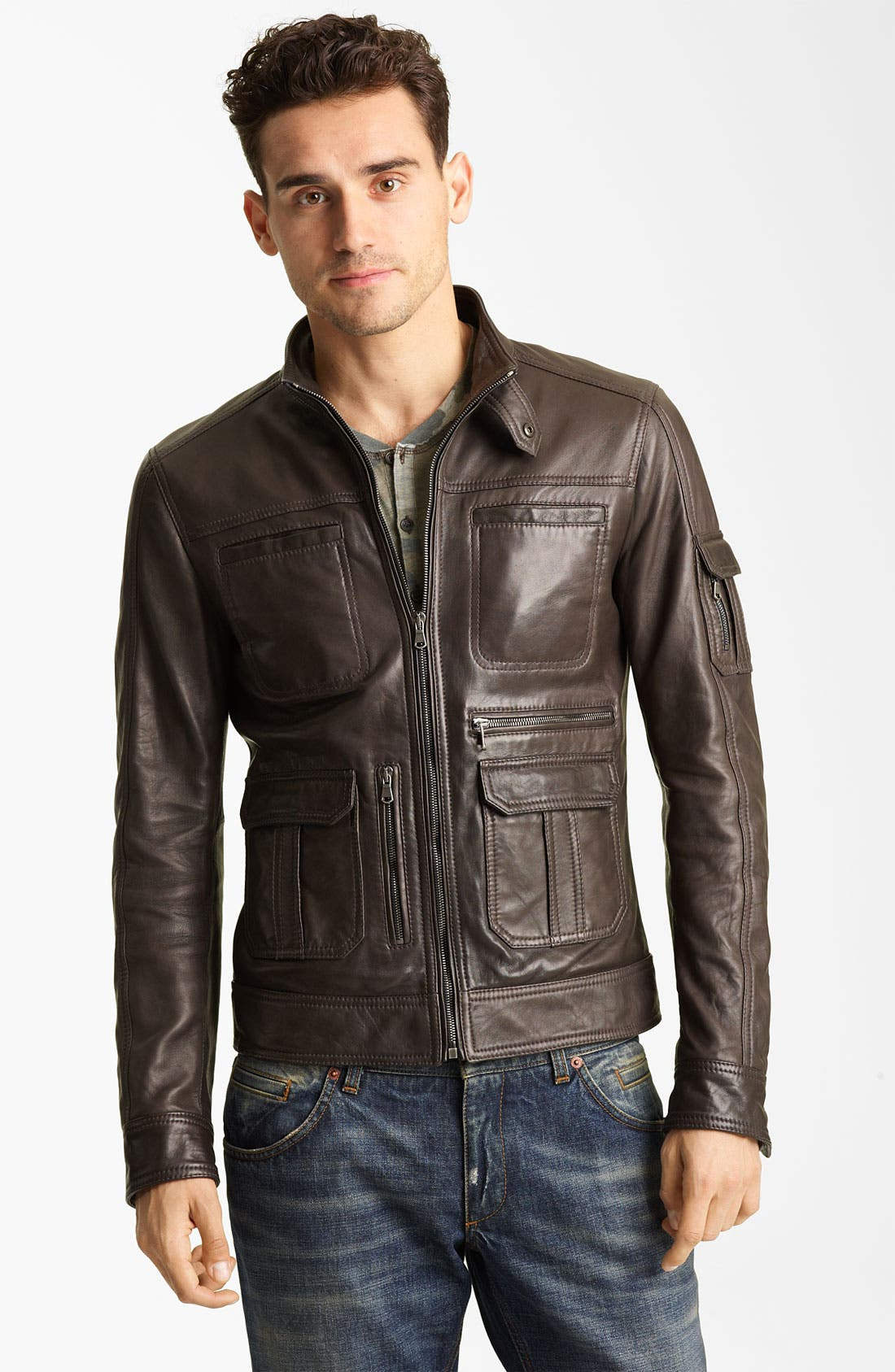 Alternate Image 1 Selected - Dolce&Gabbana Leather Jacket