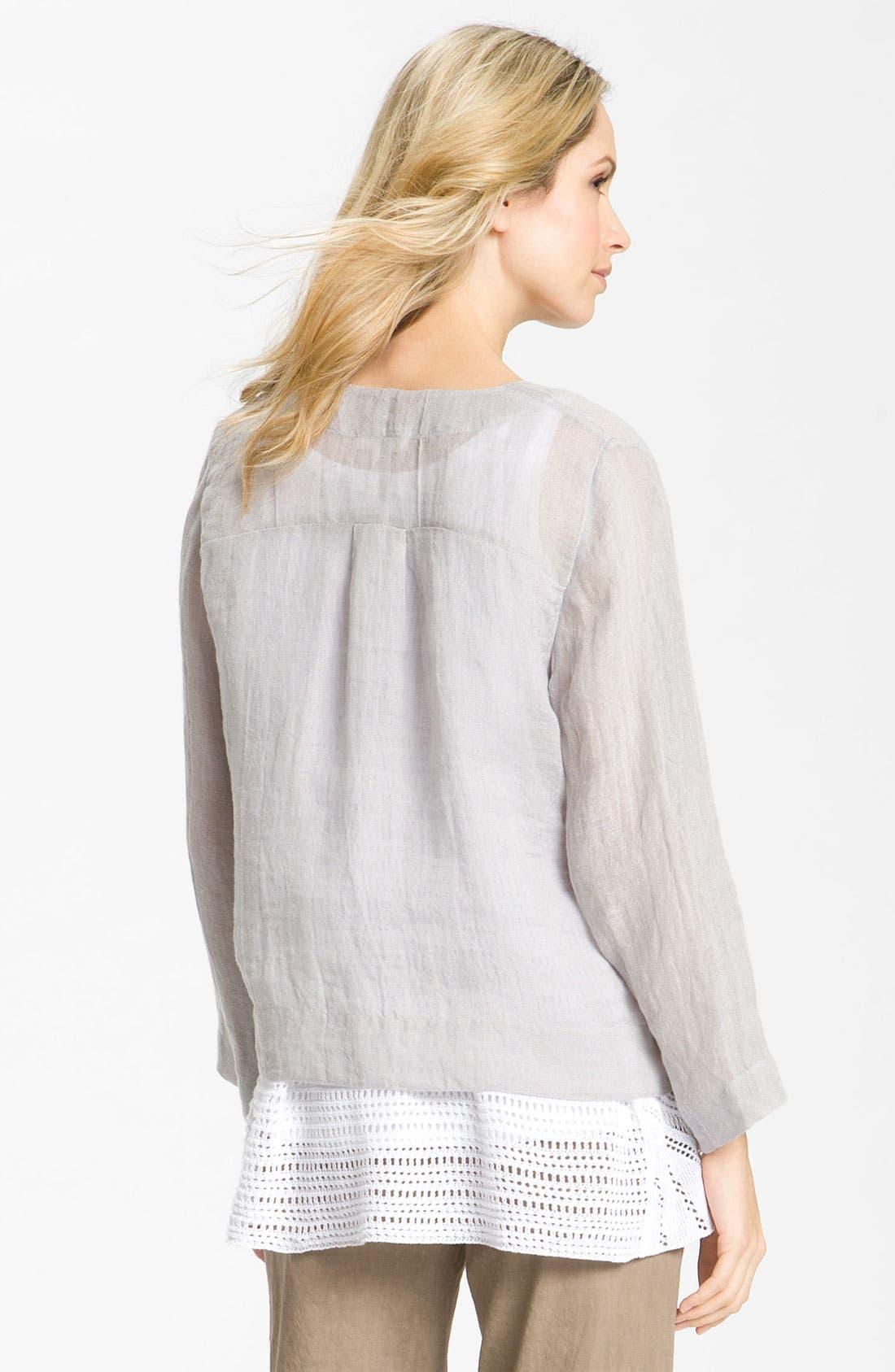 Alternate Image 2  - Eileen Fisher Linen Gauze Tunic