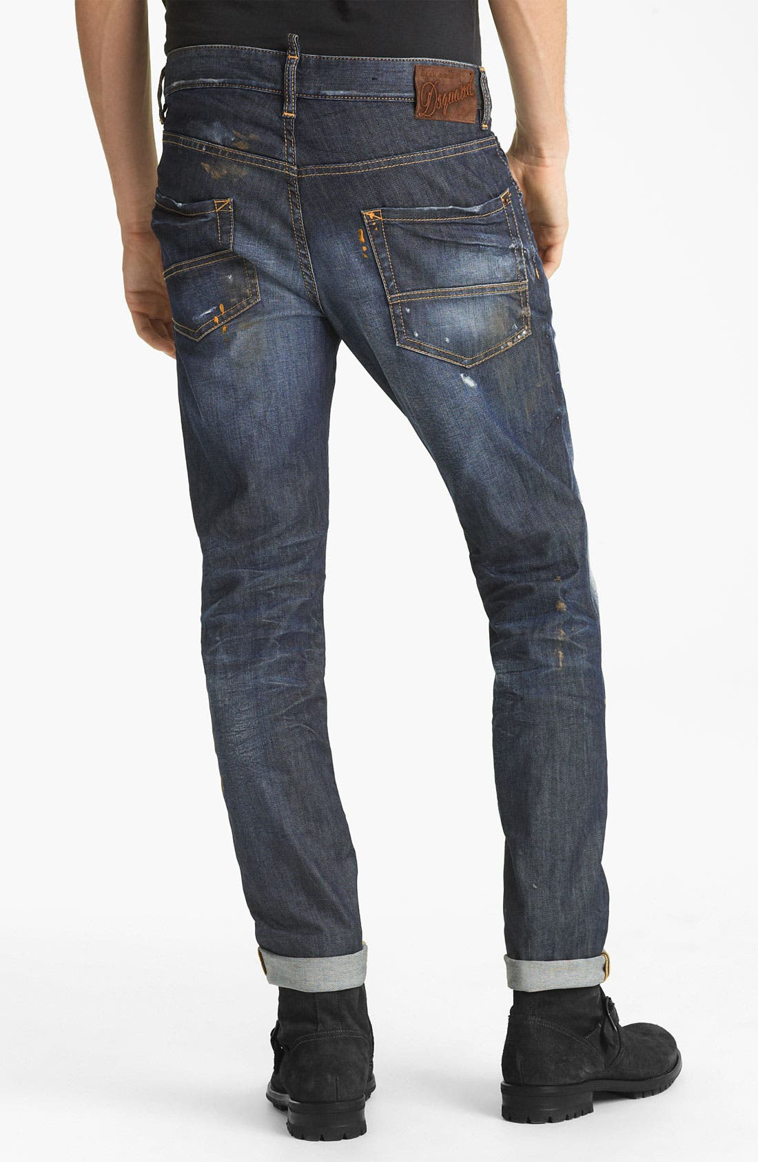 Alternate Image 1 Selected - Dsquared2 'Cool Guy' Slim Straight Jeans (Warm Suede)