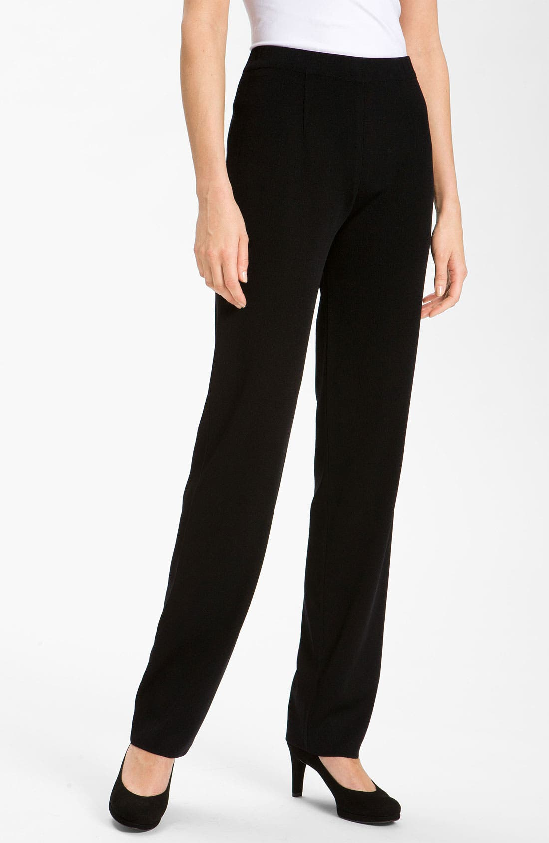 Alternate Image 1  - Misook Slim Knit Pants (Regular & Petite) (Online Only)