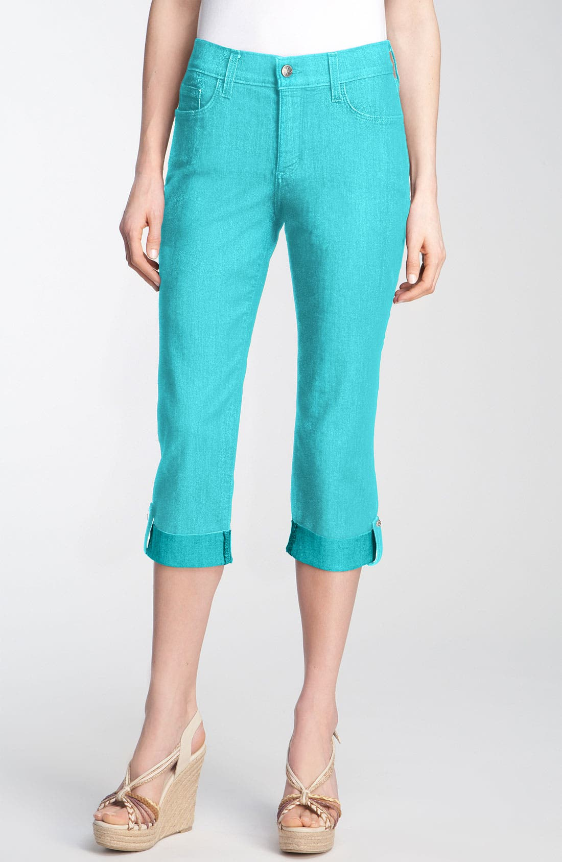 Alternate Image 1 Selected - NYDJ 'Carmen' Stretch Twill Crop Jeans (Petite)