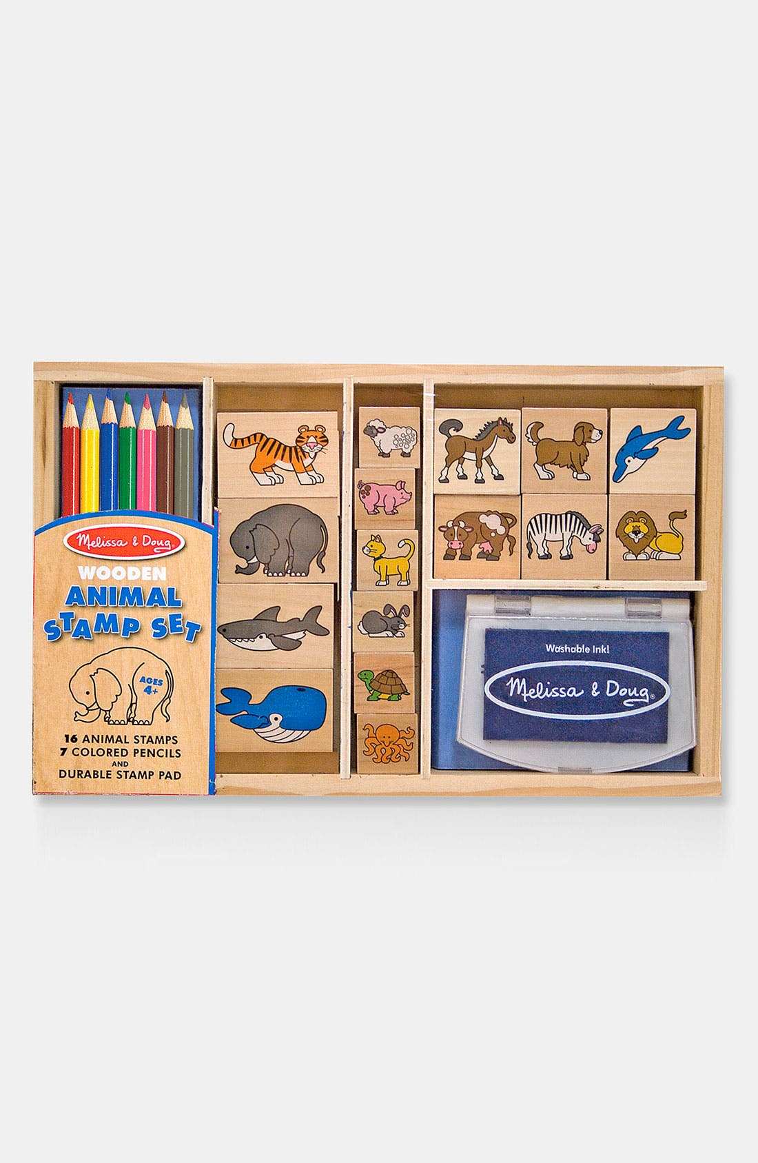 Alternate Image 1 Selected - Melissa & Doug Animal Stamp Set