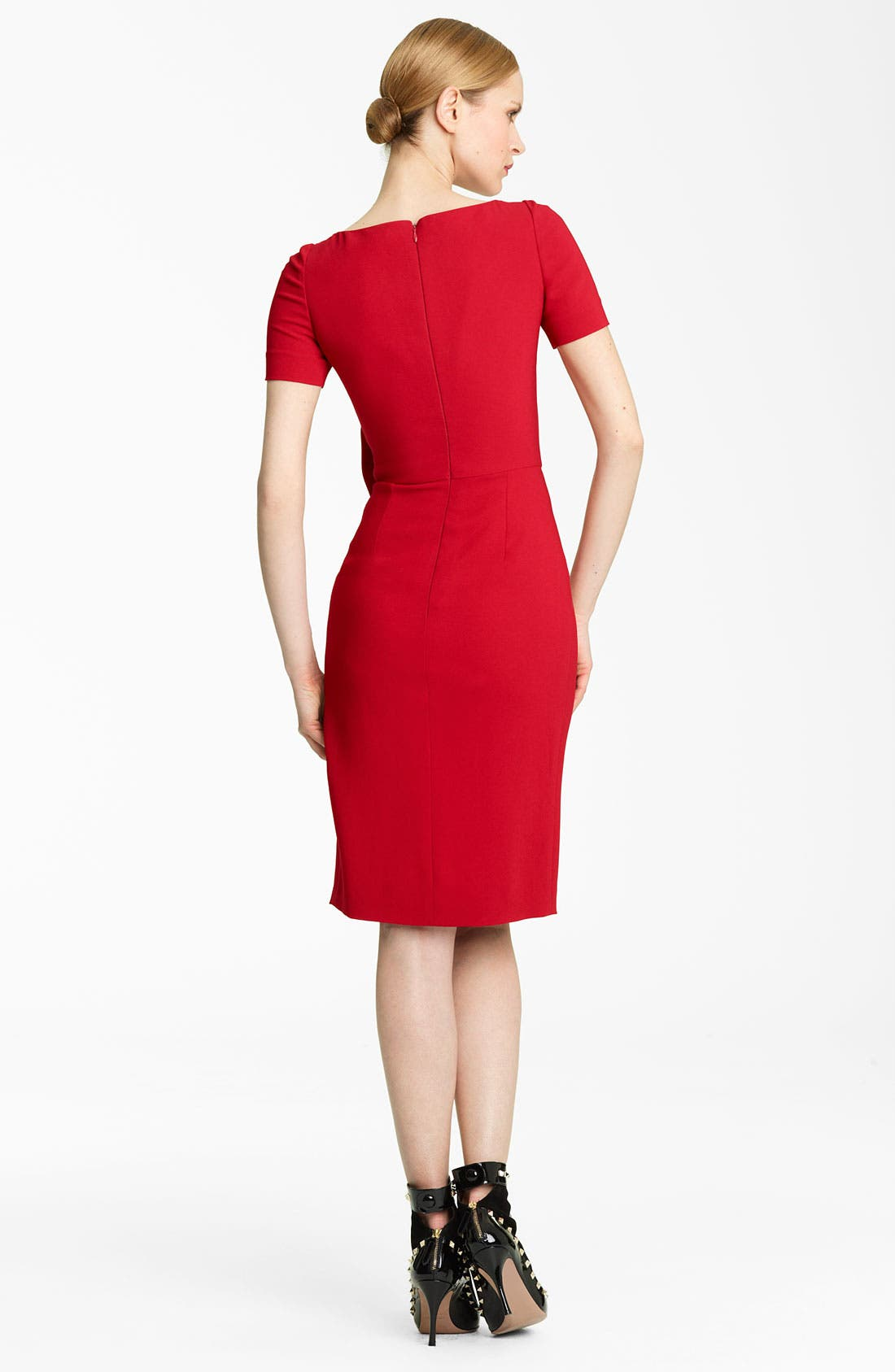 Alternate Image 2  - Valentino Side Drape Stretch Cady Dress