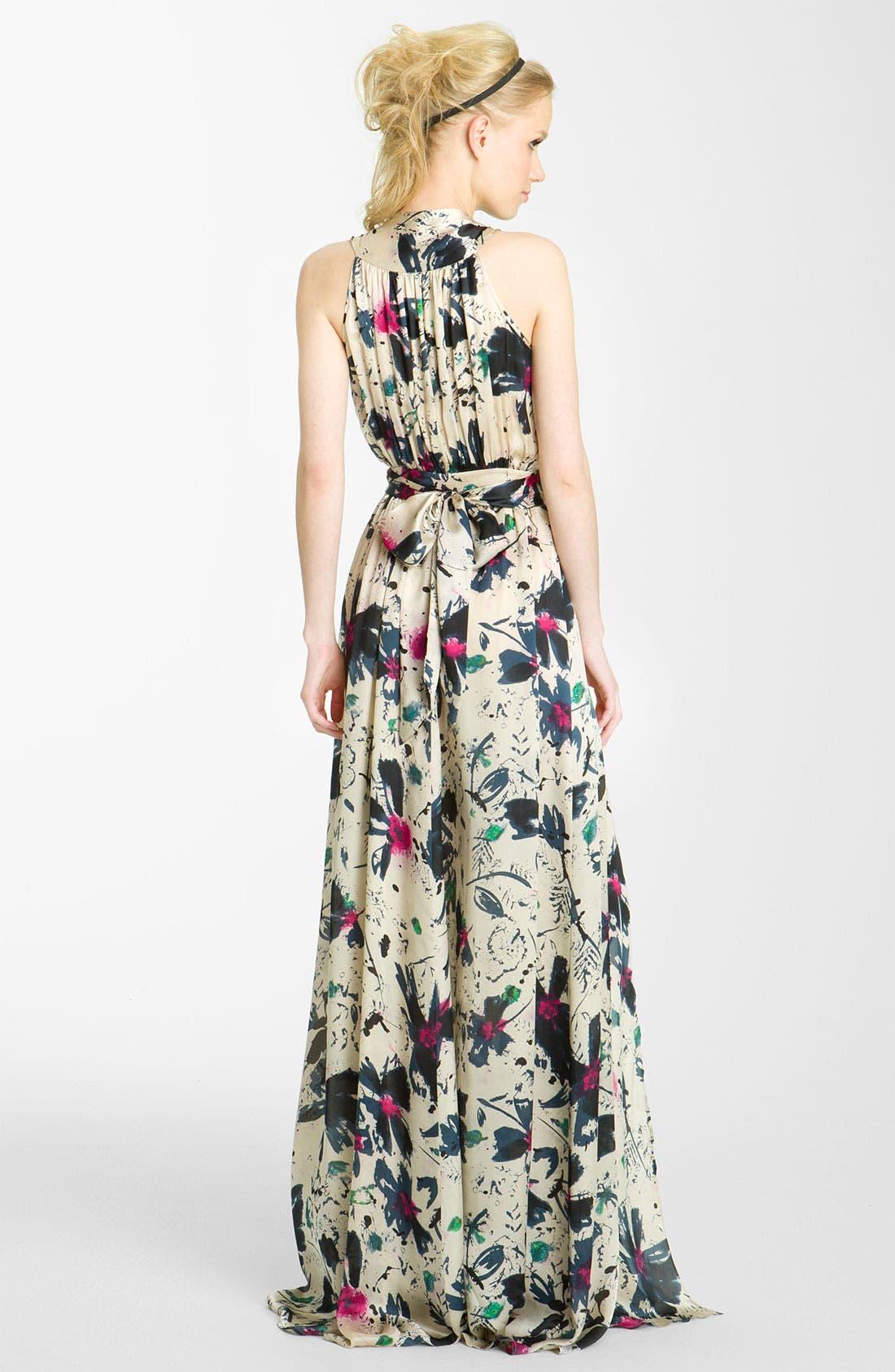 Alternate Image 2  - Rachel Zoe 'Natasha' Floral Print Silk Gown