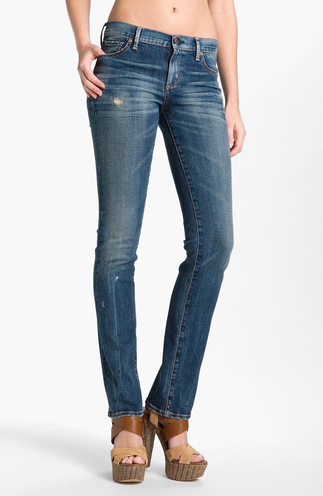 Alternate Image 1  - Citizens of Humanity 'Ava' Straight Leg Stretch Jeans (Slash)