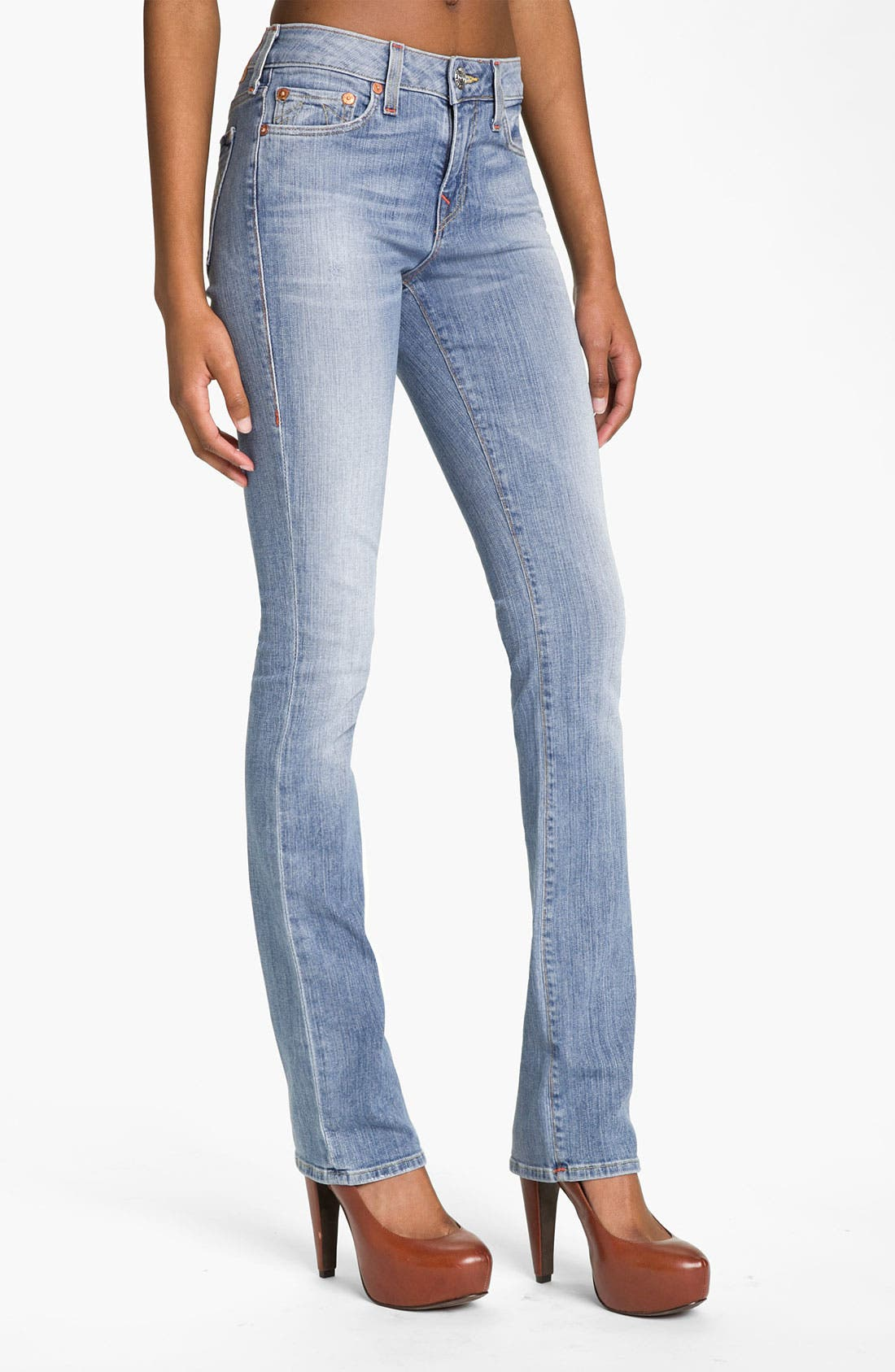 Main Image - True Religion Brand Jeans 'Stacey' Straight Leg Stretch Jeans (Drifter)
