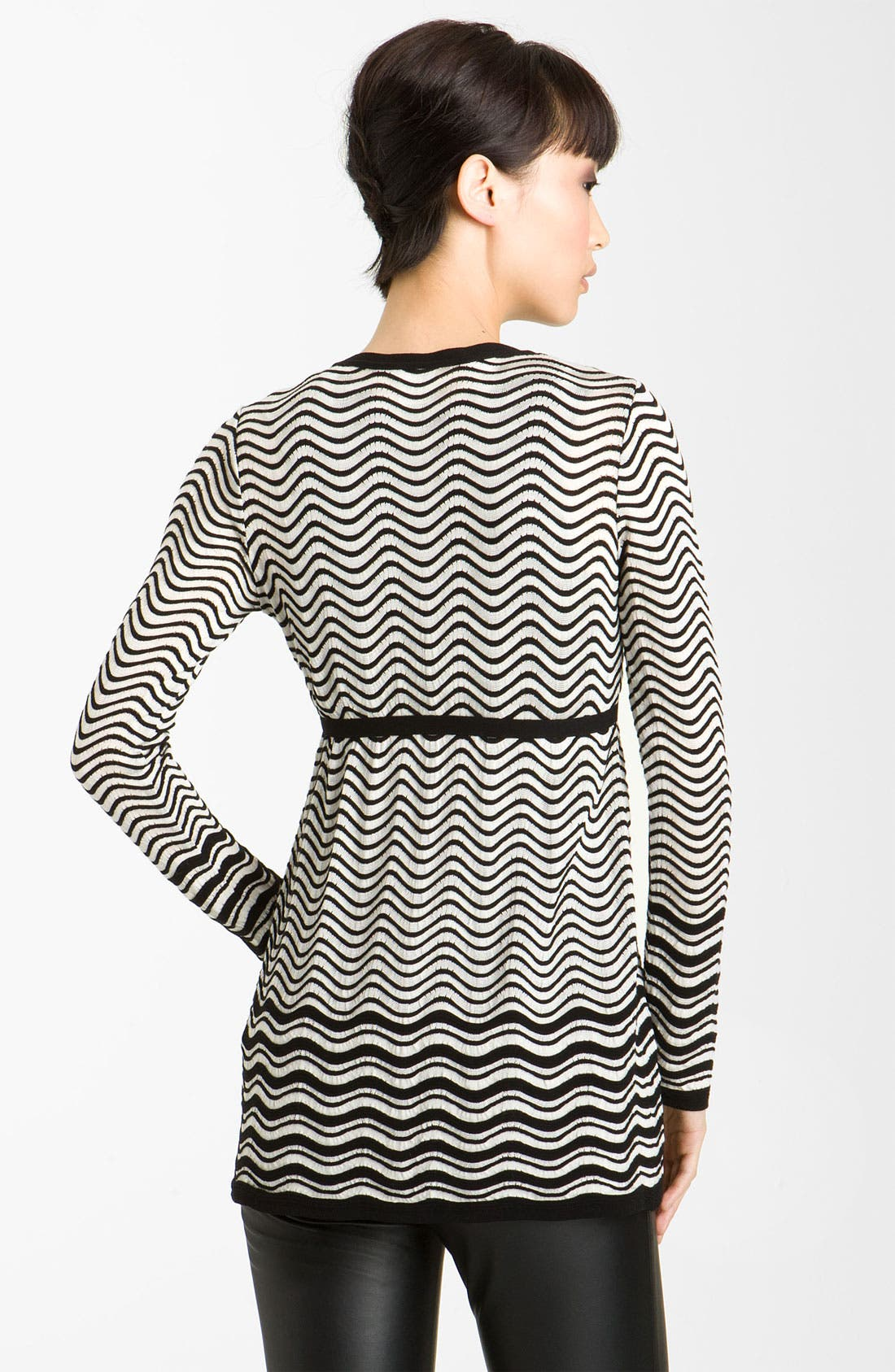 Alternate Image 2  - M Missoni Pointelle Wave Stripe Cardigan