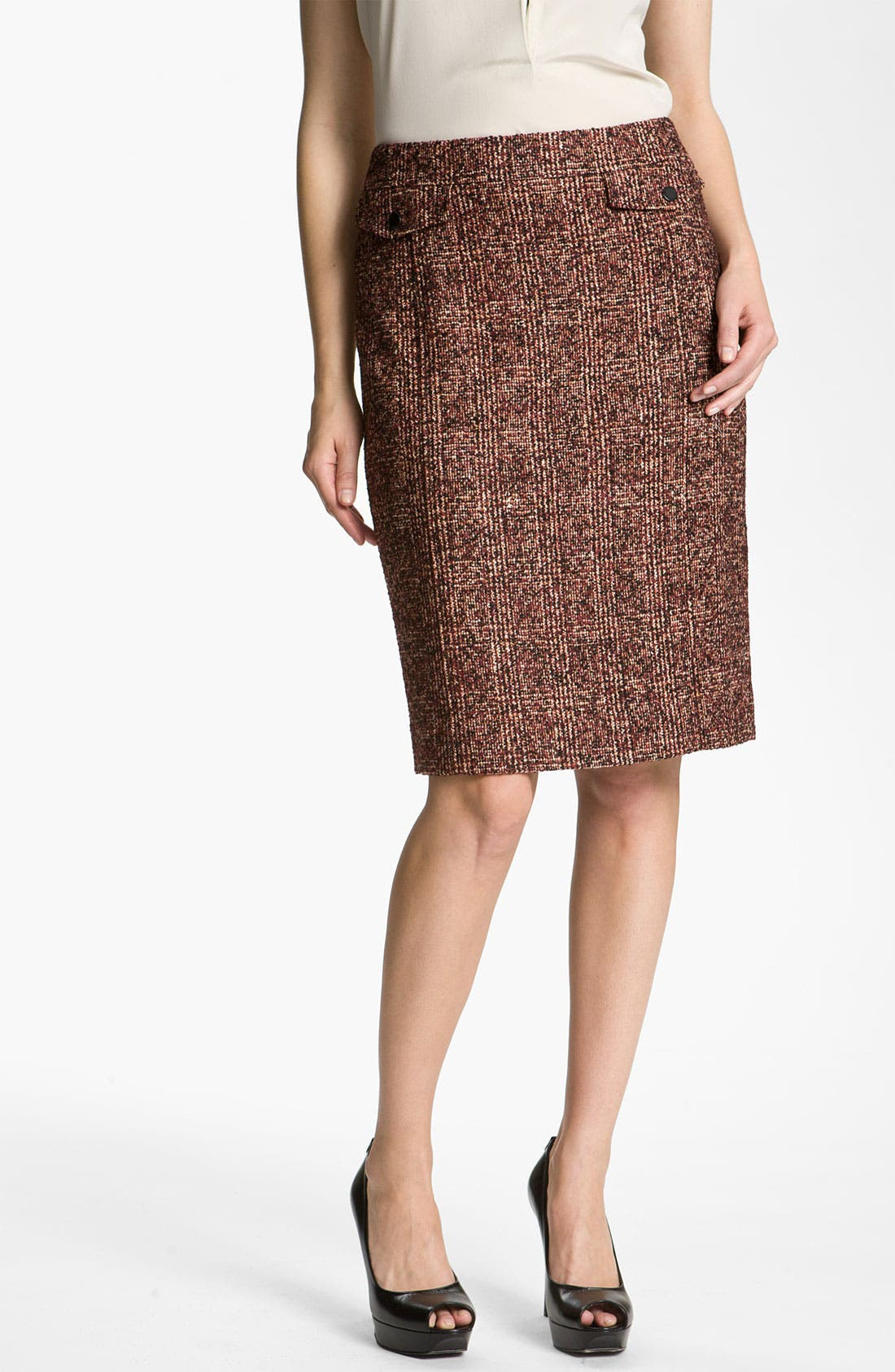 Main Image - Nordstrom Collection 'Cambon' Tweed Pencil Skirt