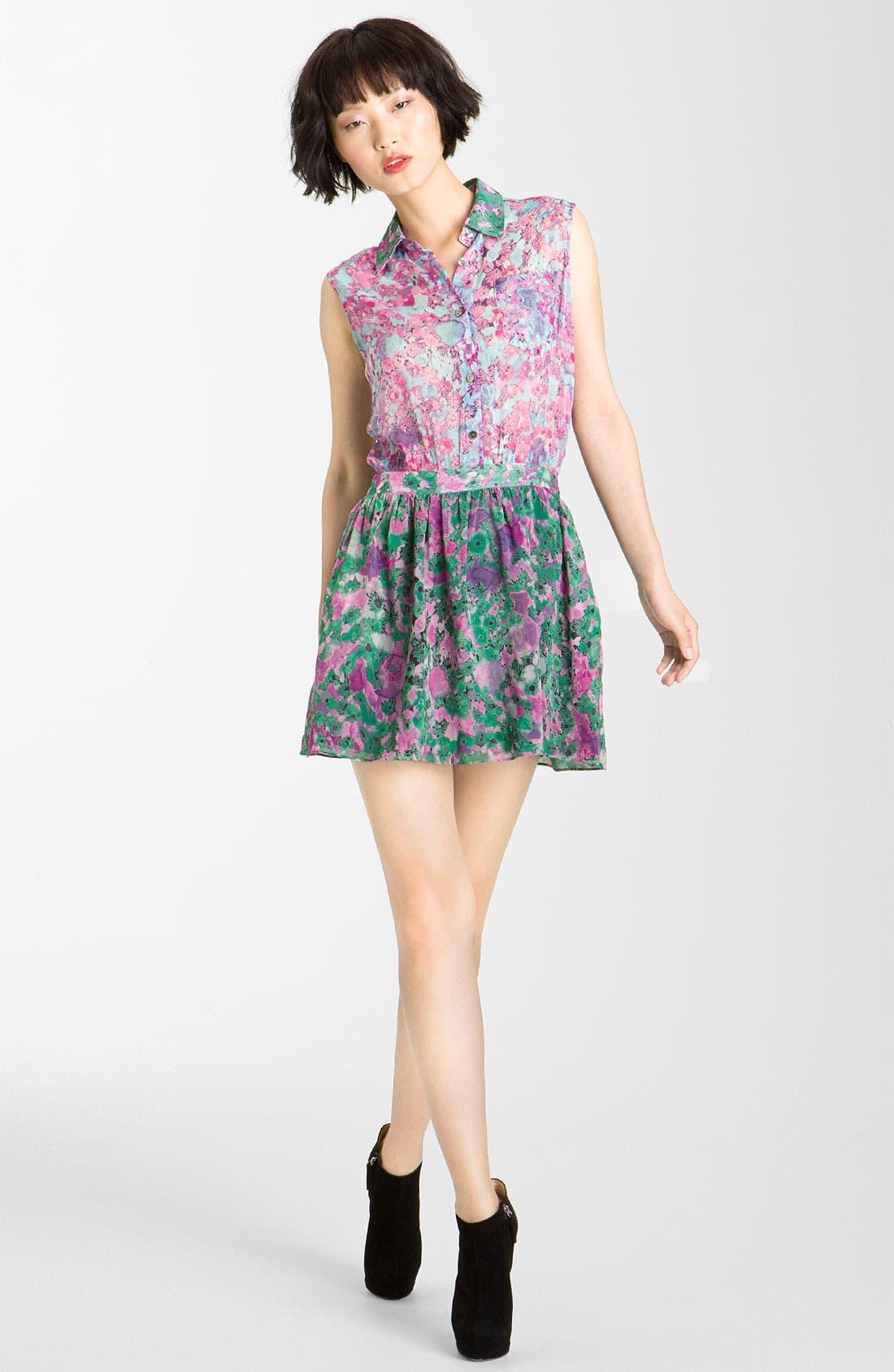 Main Image - Gryphon 'Mimi' Print Chiffon Minidress