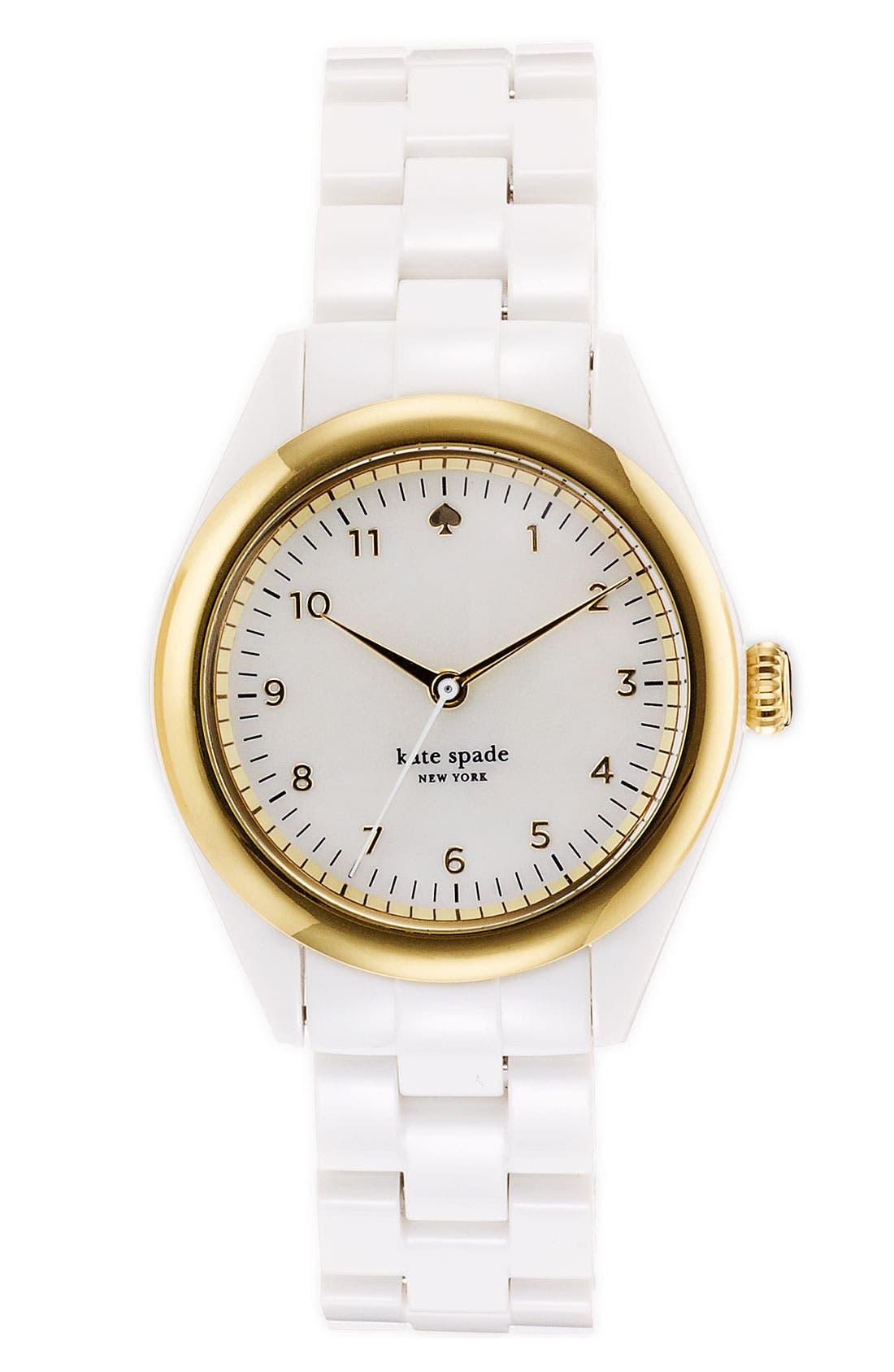 Main Image - kate spade new york 'seaport' acrylic bracelet watch, 34mm
