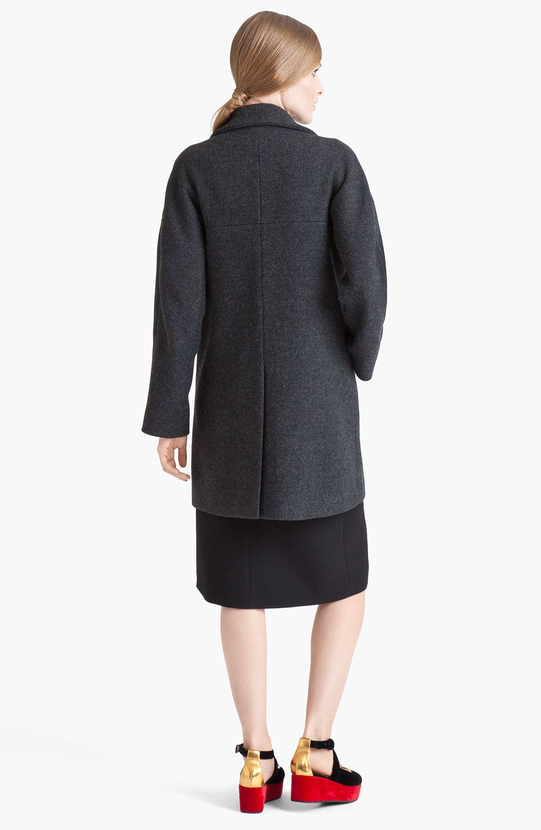 Alternate Image 2  - Marni Double Breasted Wool Blend Coat