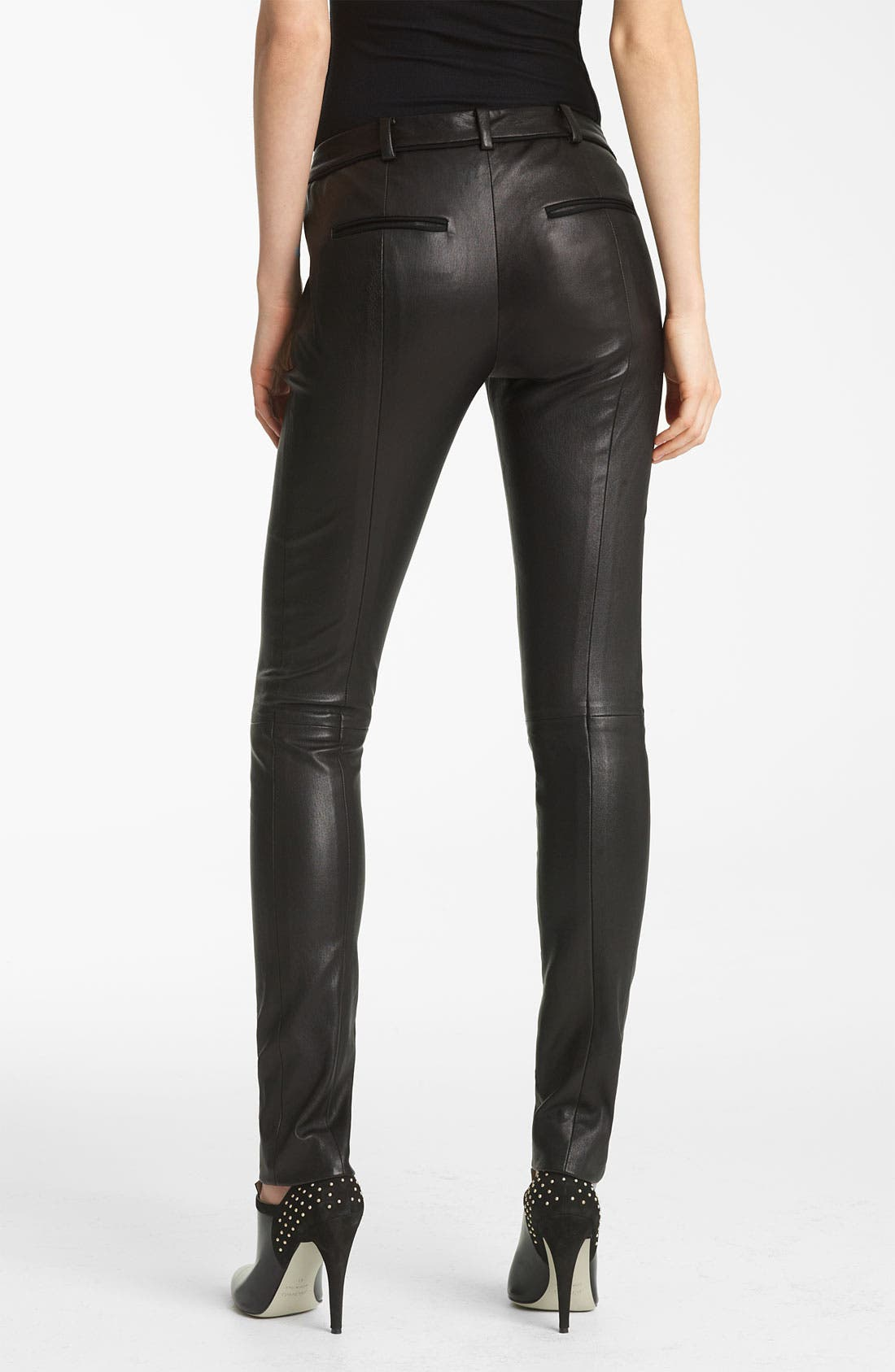 Alternate Image 2  - Jason Wu Stovepipe Leather Pants