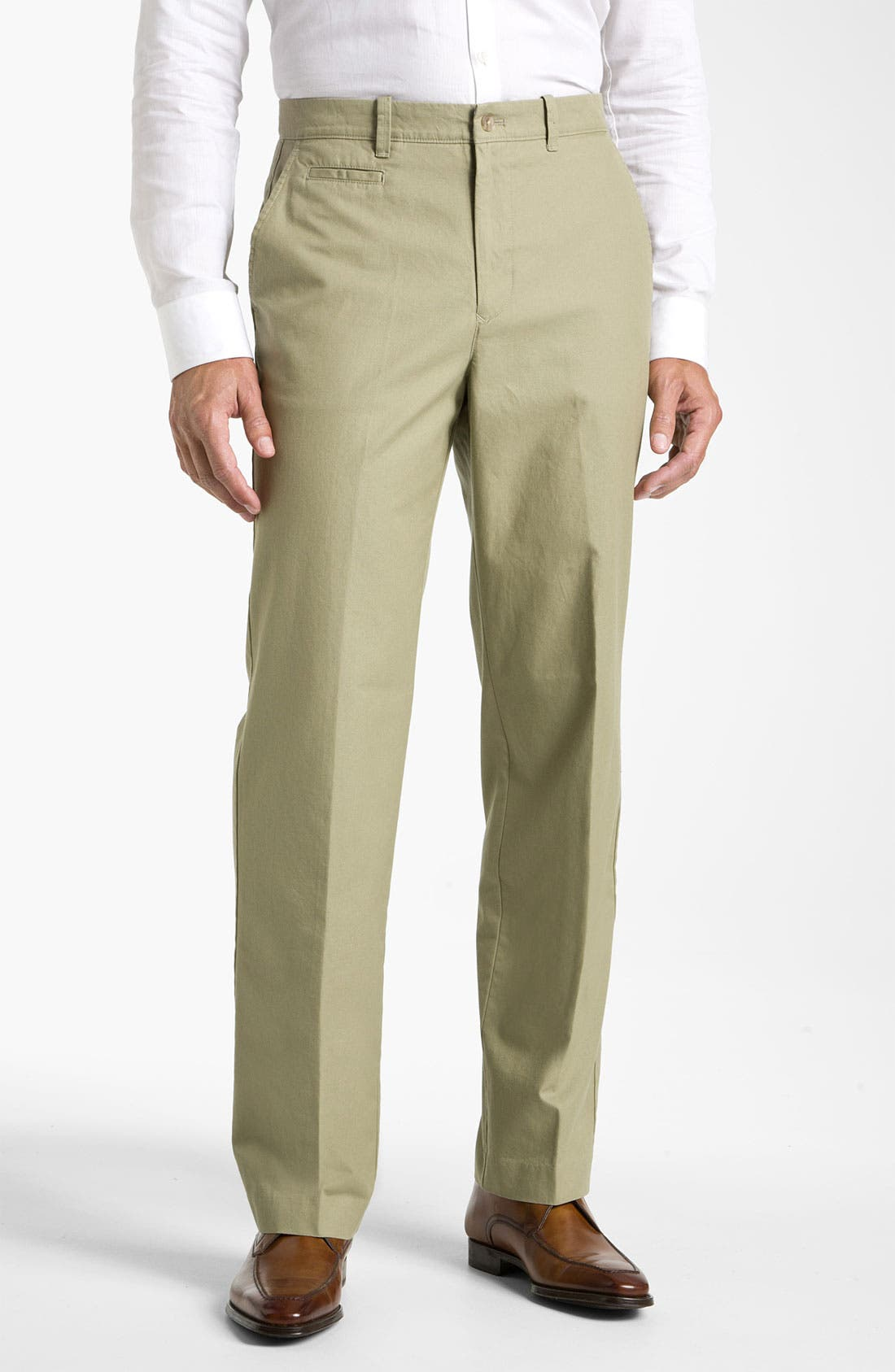Alternate Image 1 Selected - Hart Schaffner Marx Flat Front Trousers