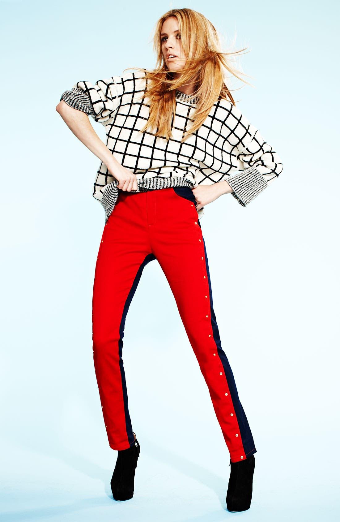 Alternate Image 5  - KENZO Studded Colorblock Jeans