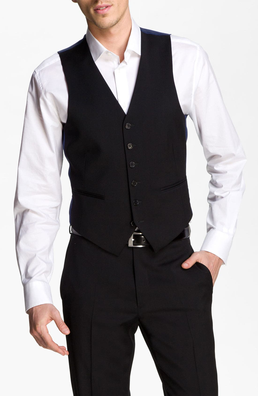Alternate Image 1 Selected - John Varvatos Star USA Wool Front Vest