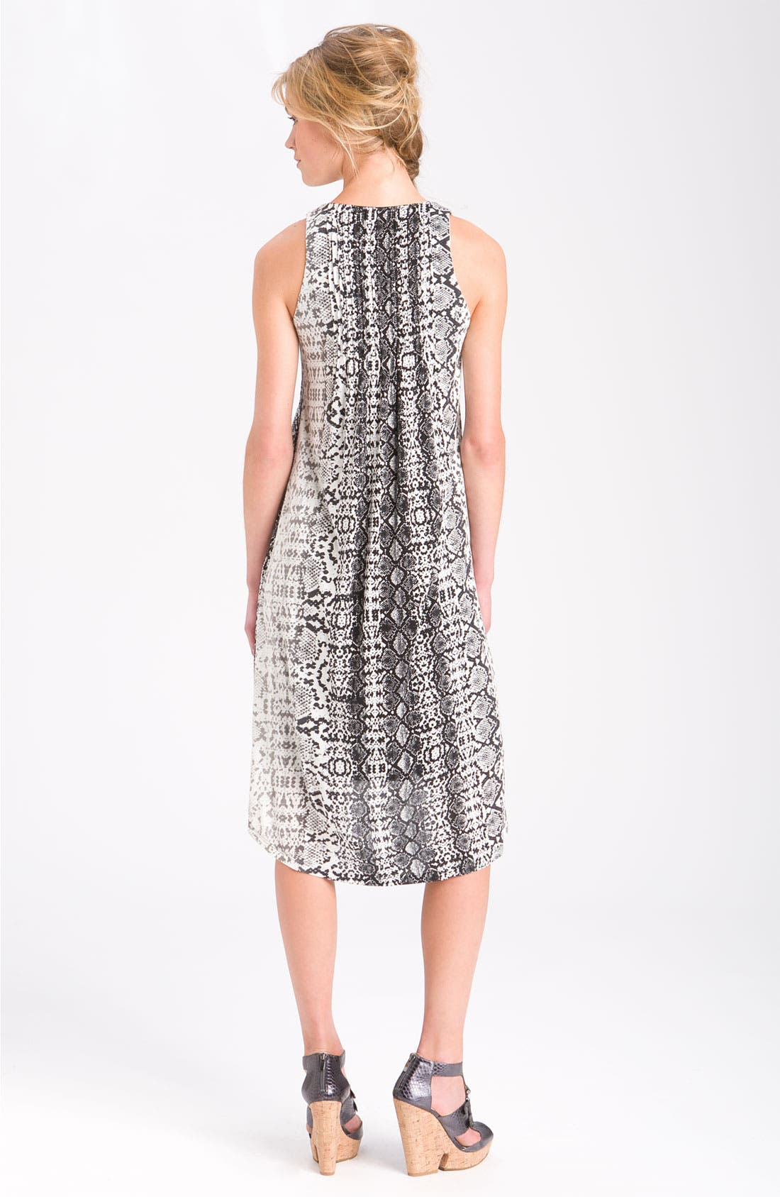 Alternate Image 2  - Kenneth Cole New York Python Print Pleated Dress (Petite)