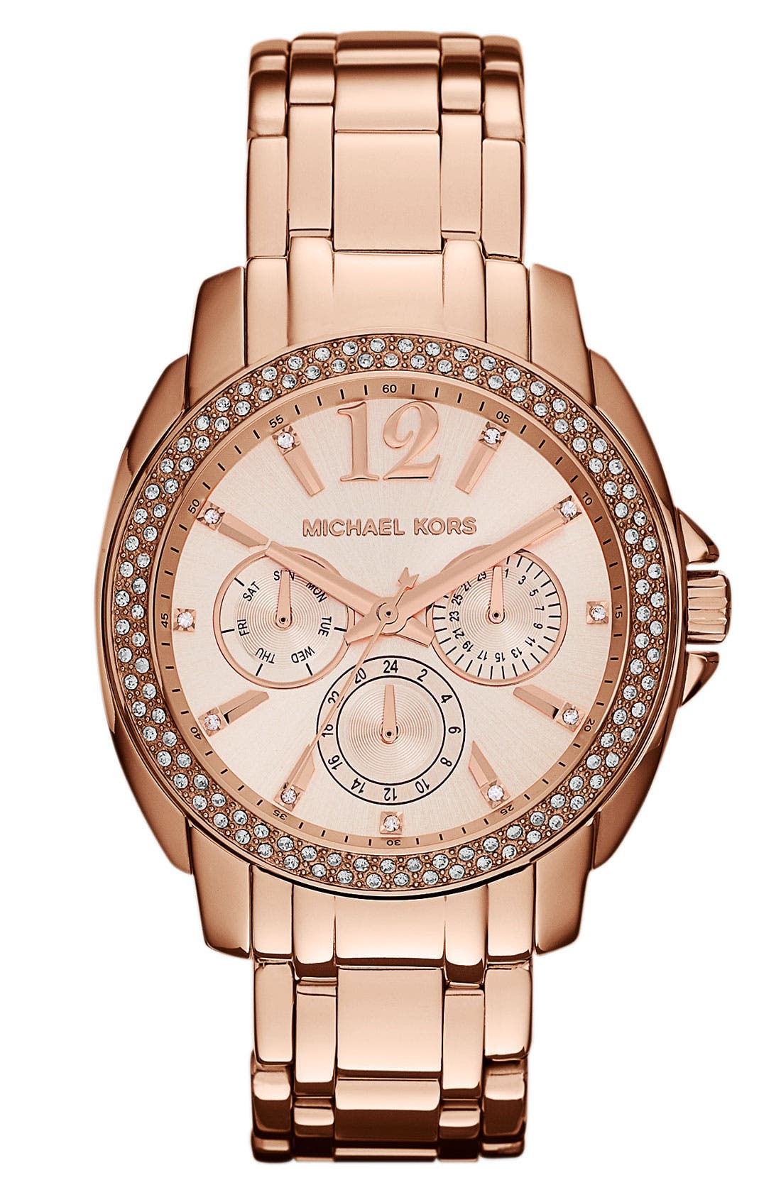Alternate Image 1 Selected - Michael Kors 'Cameron' Round Bracelet Watch