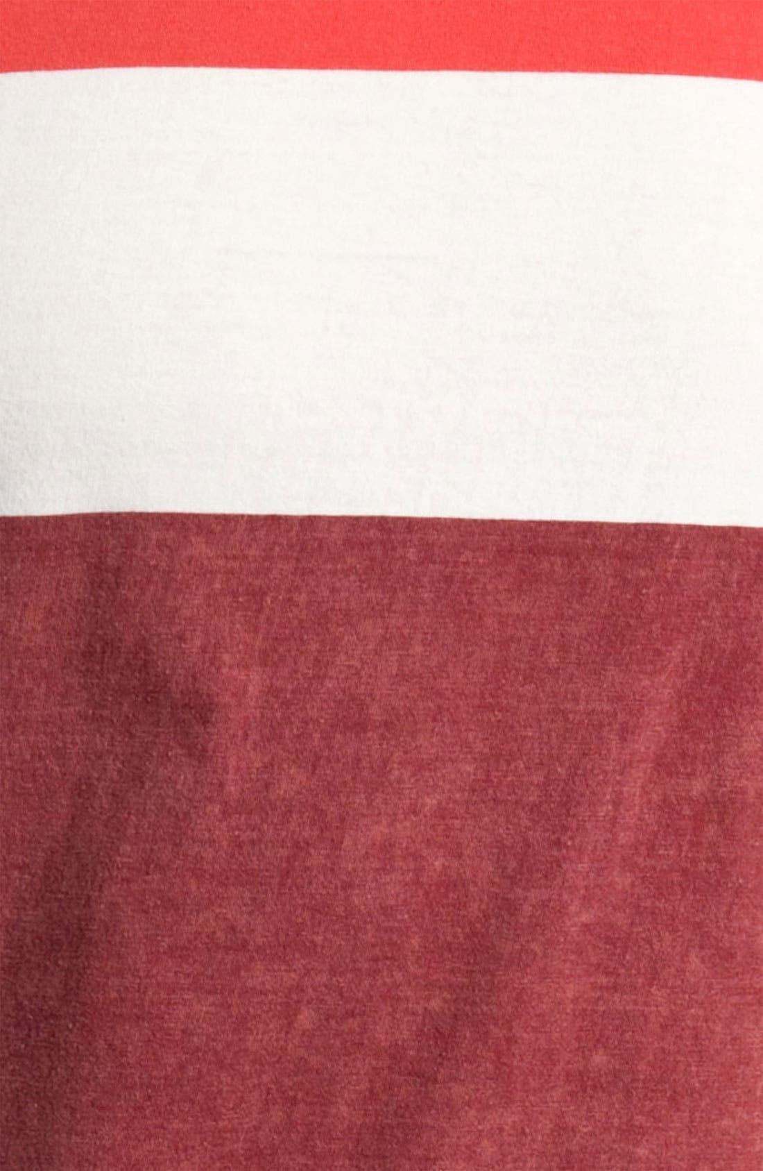 Alternate Image 3  - Quiksilver 'Friday' Colorblock Crewneck T-Shirt