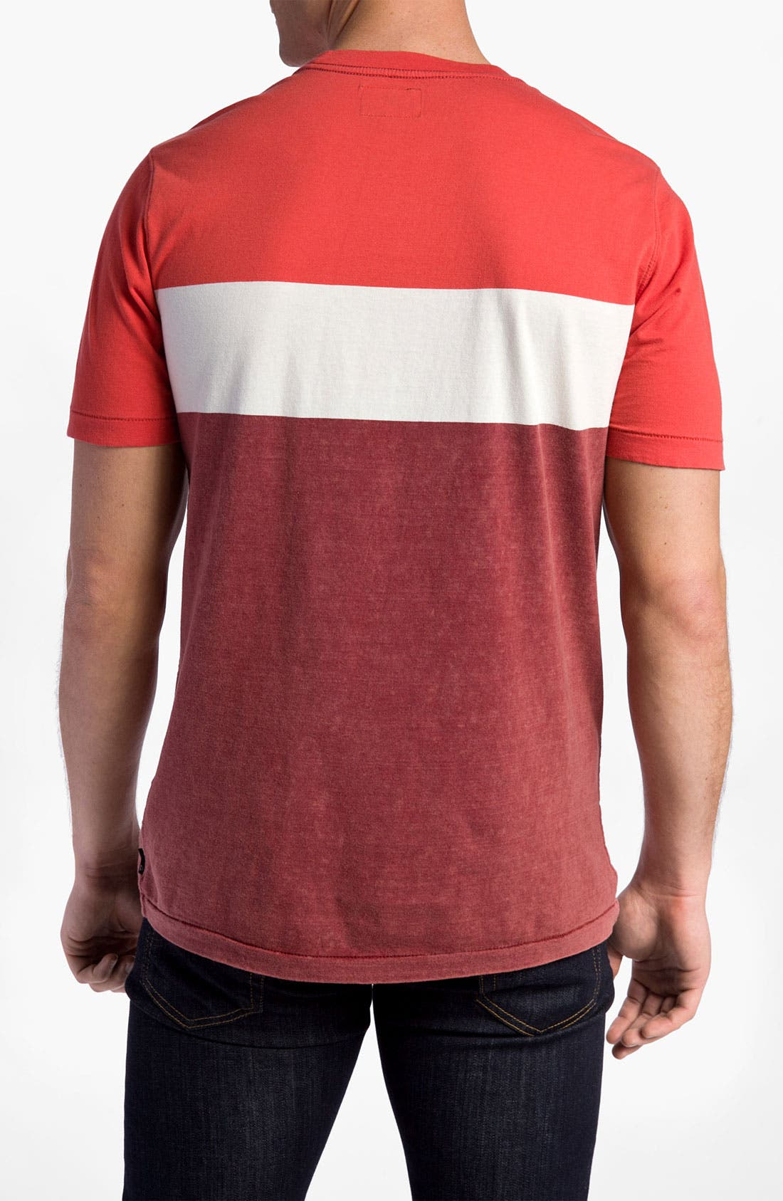 Alternate Image 2  - Quiksilver 'Friday' Colorblock Crewneck T-Shirt