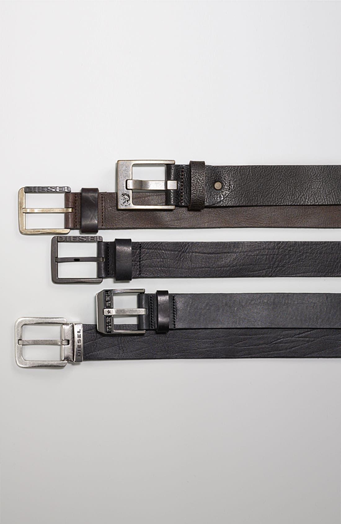 Alternate Image 2  - DIESEL® 'Bauser Service' Leather Belt