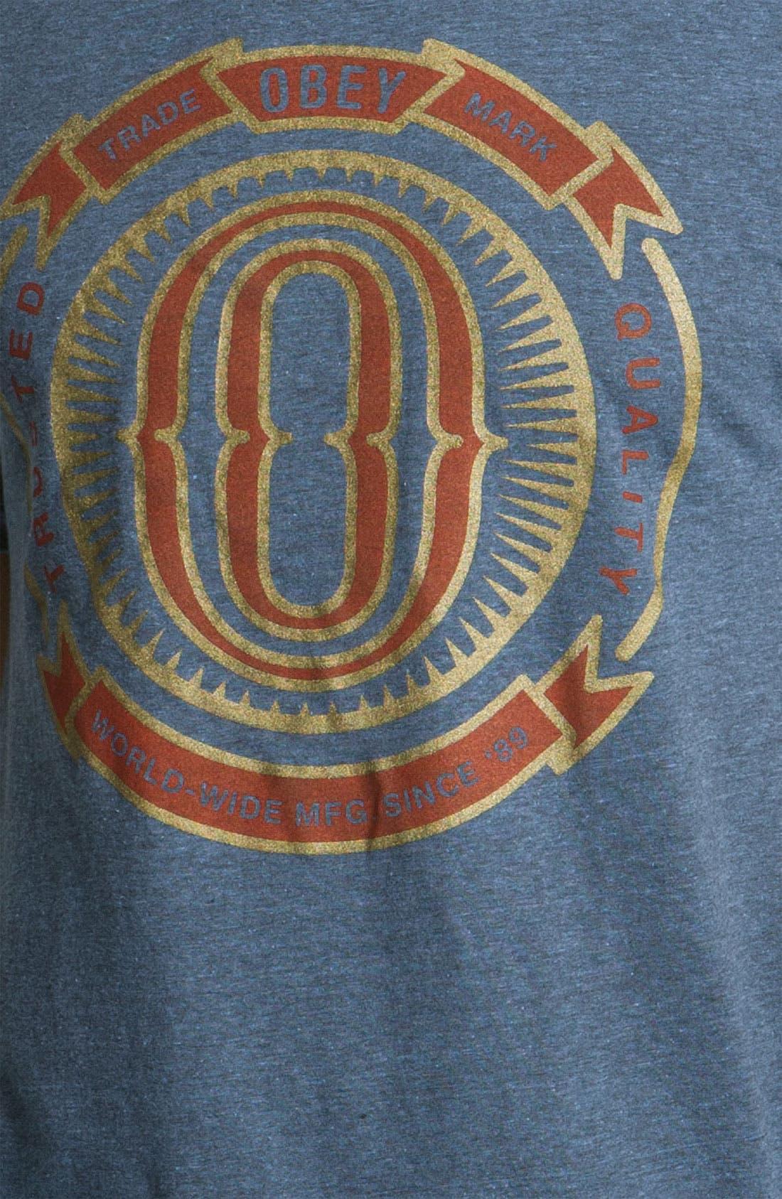 Alternate Image 3  - Obey 'O-Badge' T-Shirt