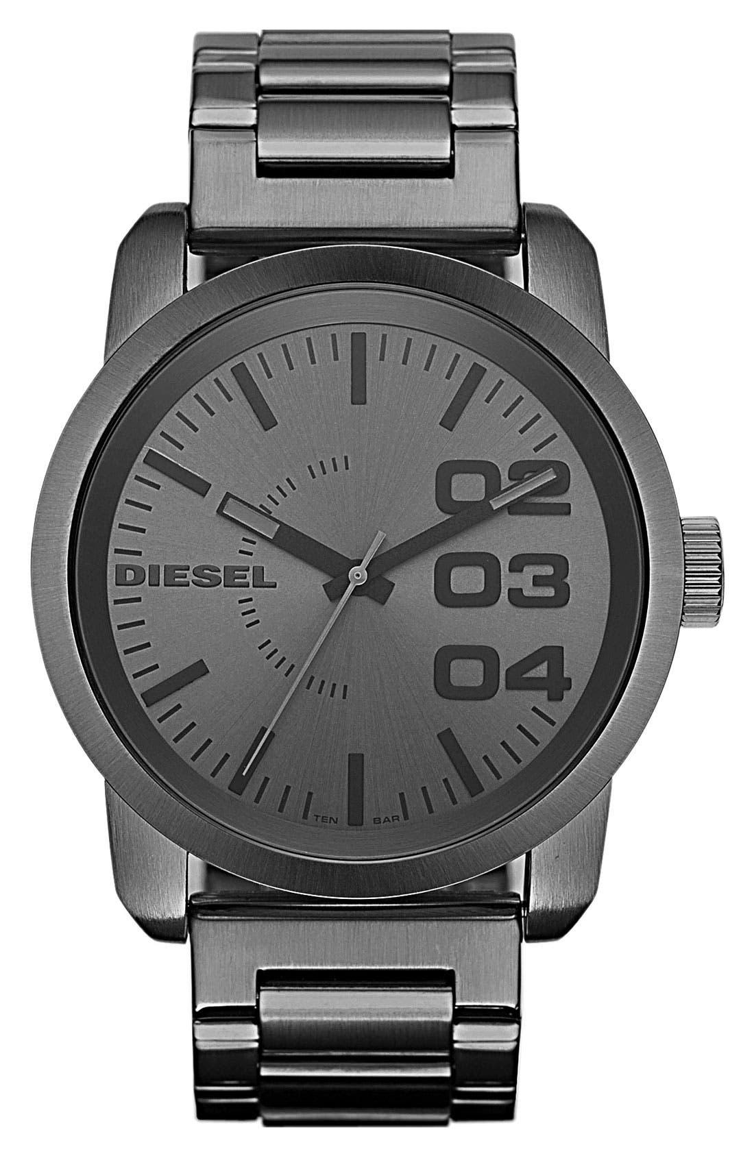 Main Image - DIESEL® 'Double Down' Bracelet Watch, 46mm