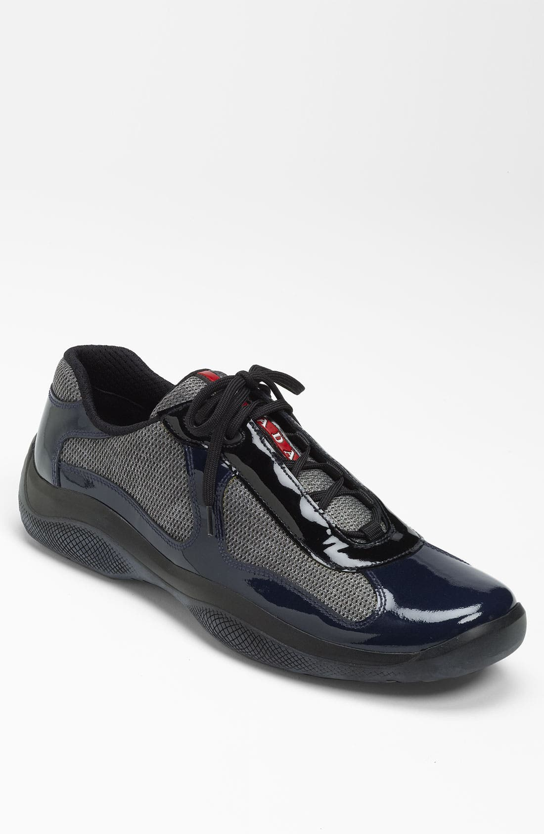 Alternate Image 1 Selected - Prada 'America's Cup' Mesh & Leather Sneaker (Men)